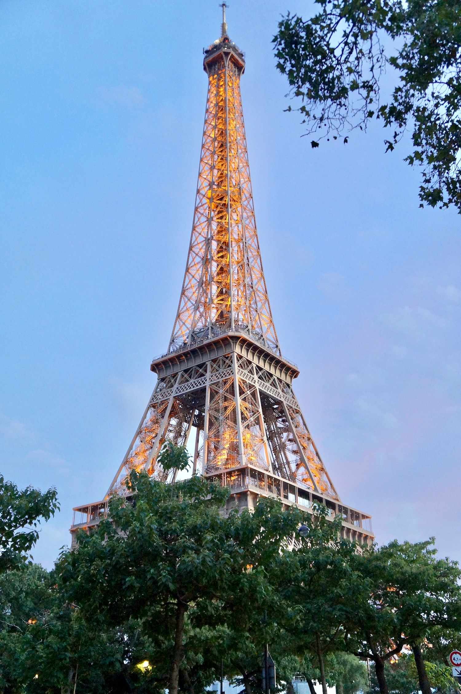 After climbing the Eiffel Tower