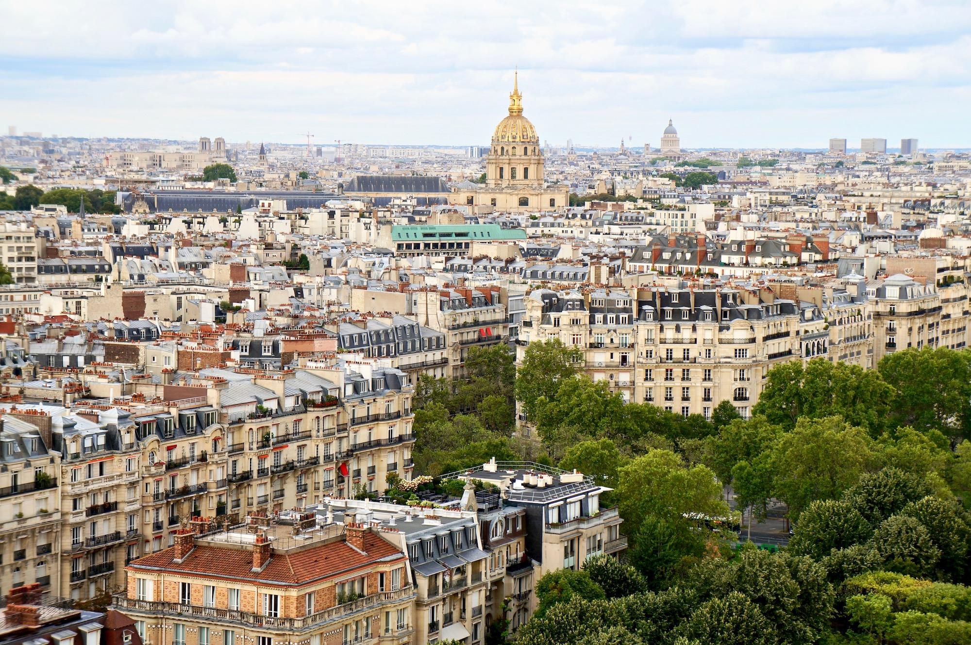Climbing the Eiffel Tower Invalides