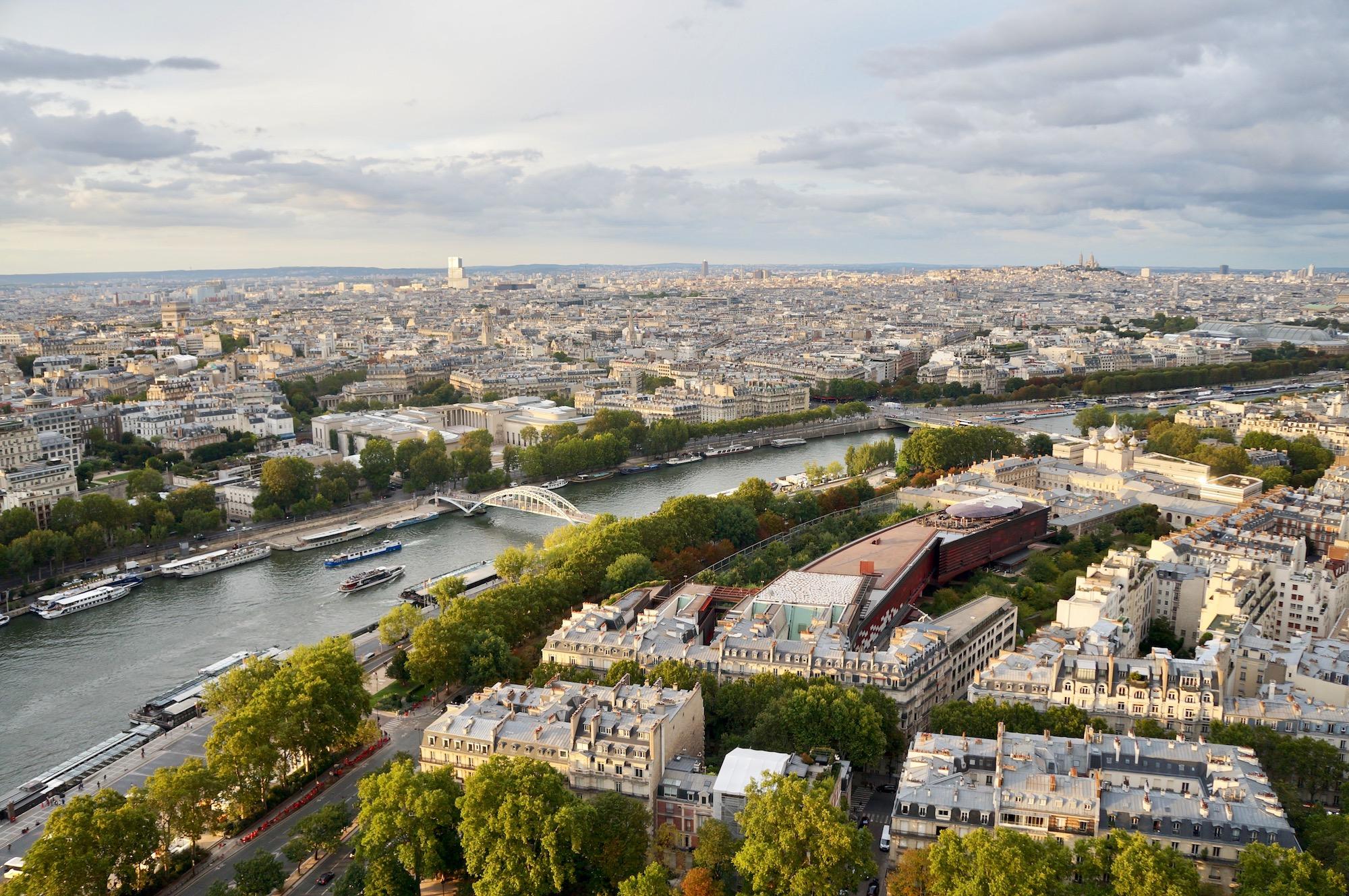 Climbing the Eiffel Tower Seine