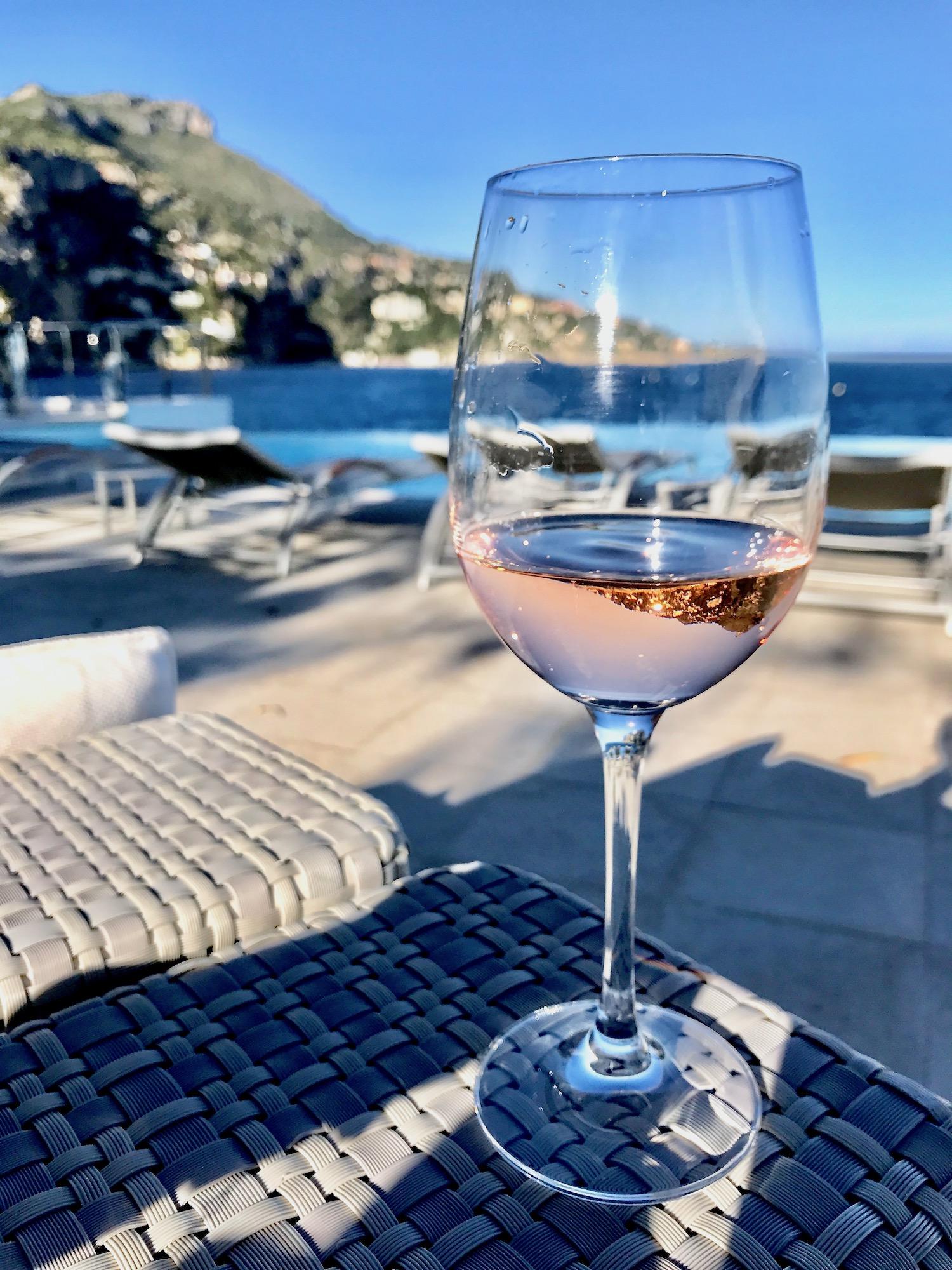 Rosé at the Cap Estel in Eze