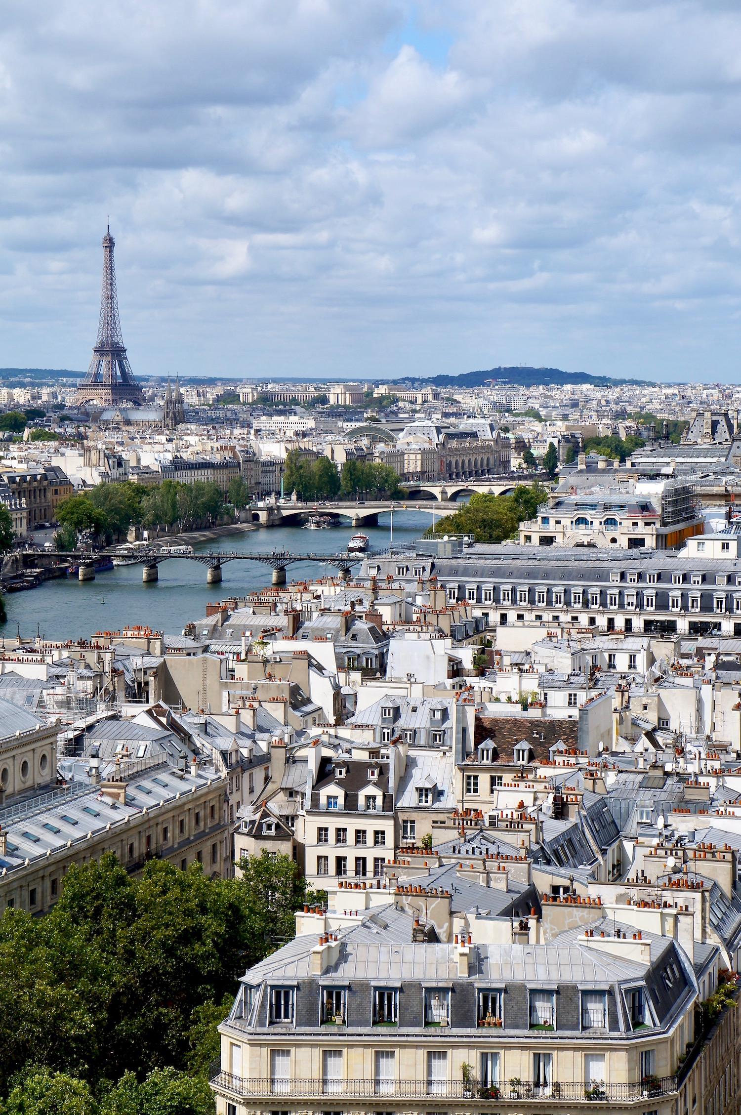 View of Paris from Tour Saint Jacques