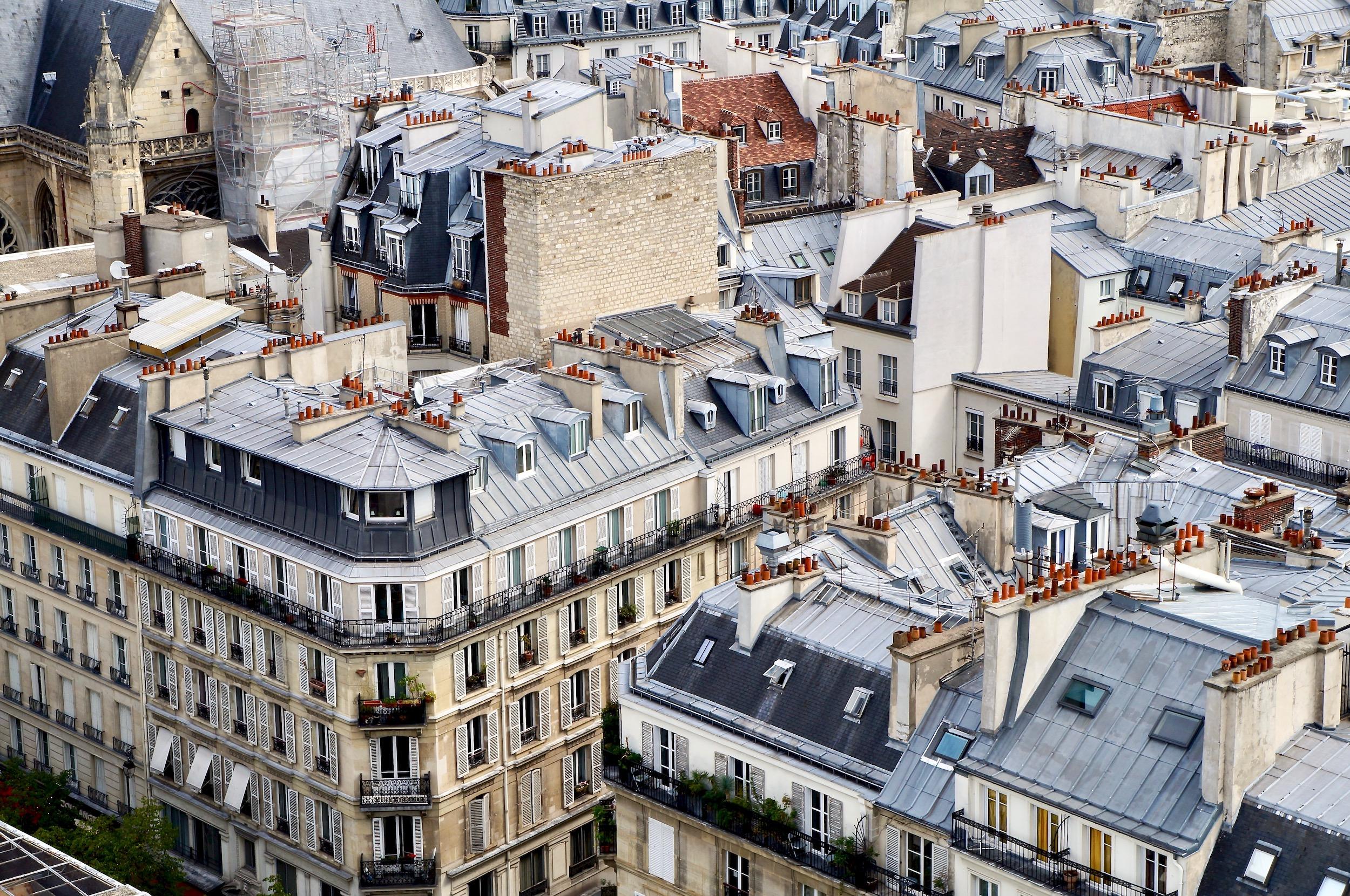 Parisian rooftops from Tour Saint-Jacques