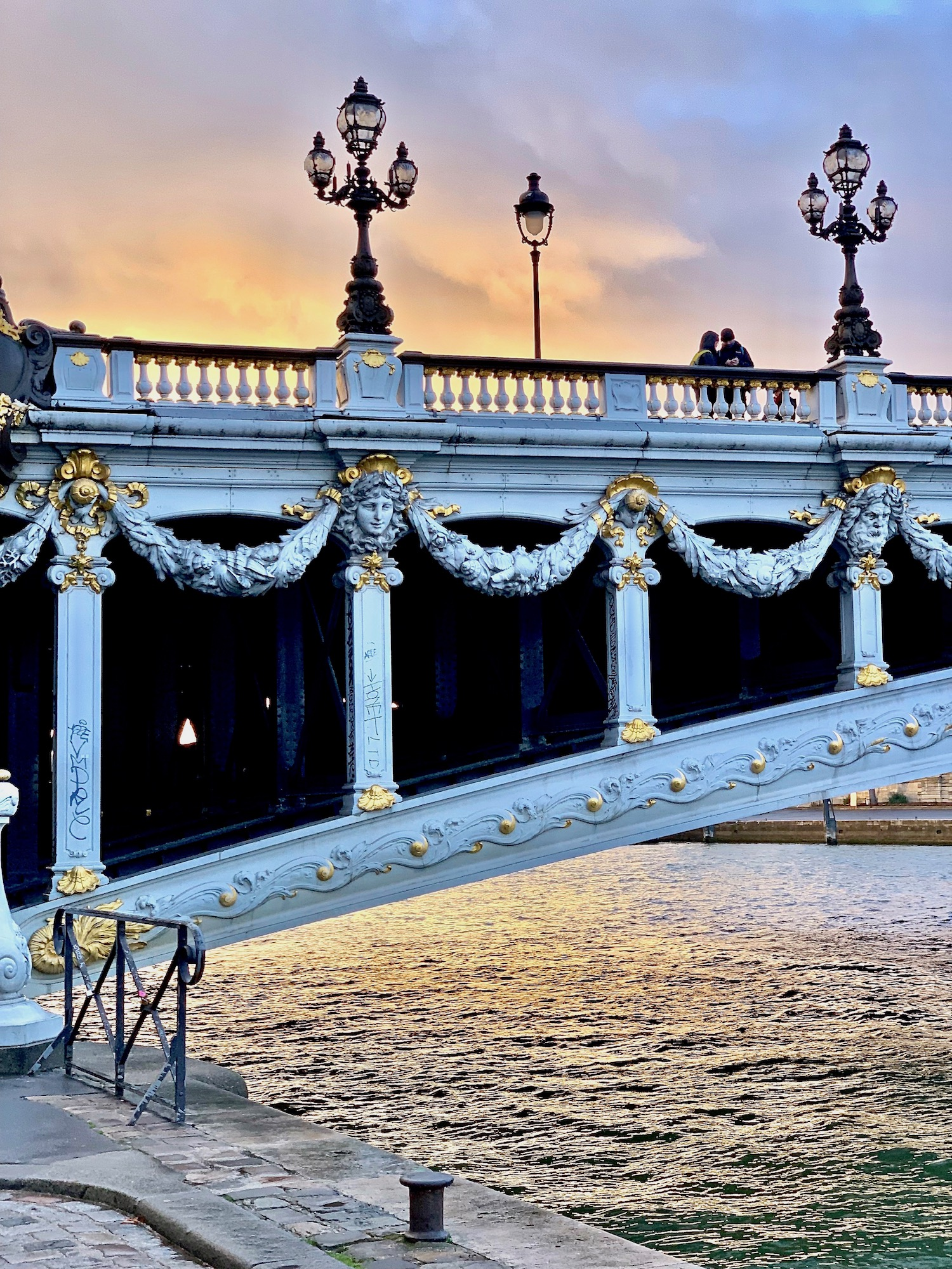 Why I Moved To Paris: Pont Alexandre III at sunset