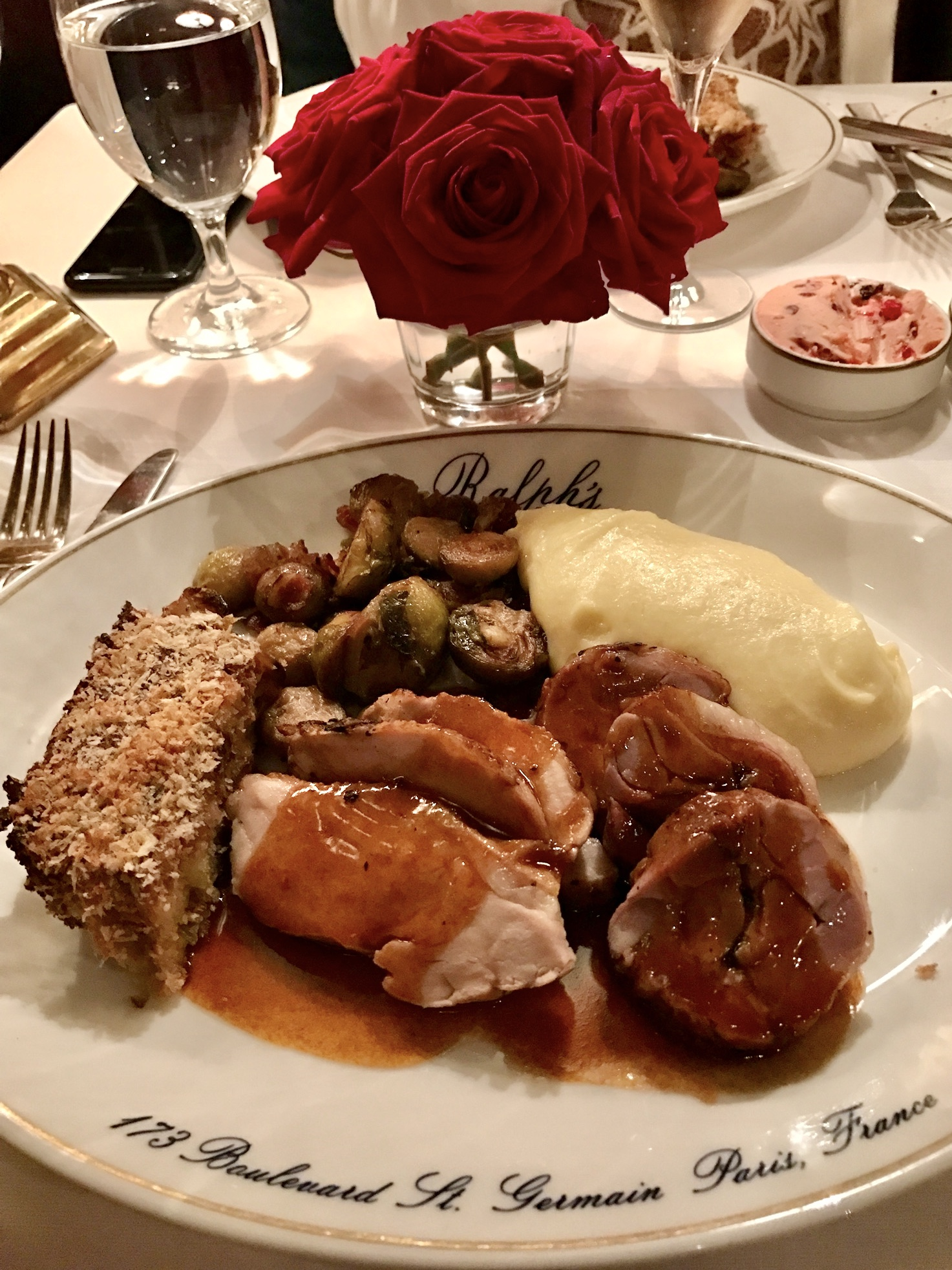 Thanksgiving in Paris at Ralph's plate