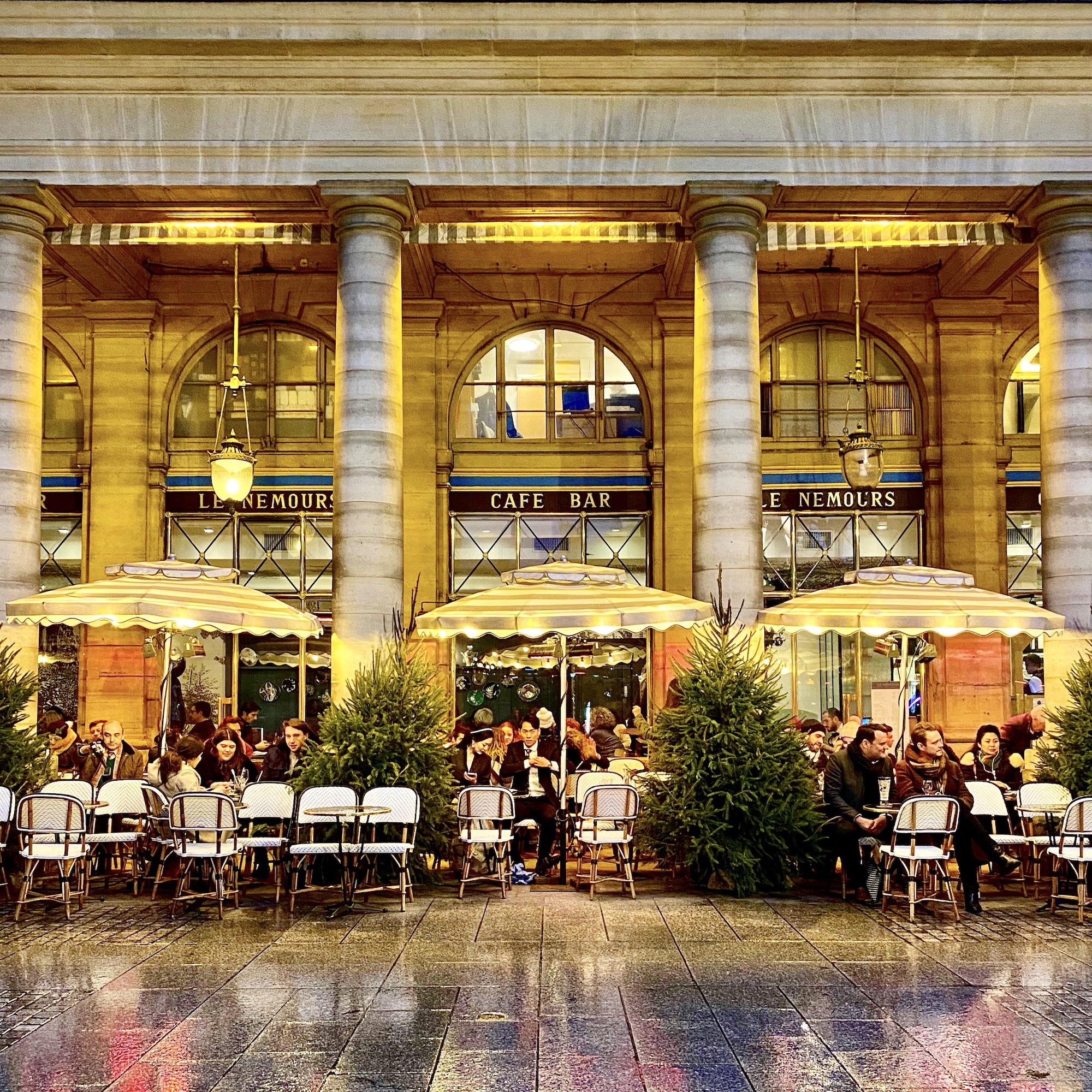 Paris Café at Winter. Even during the winter time, Paris is a great place to be. If you're looking to see the French capital dressed for the holidays I can create a bespoke trip for you.