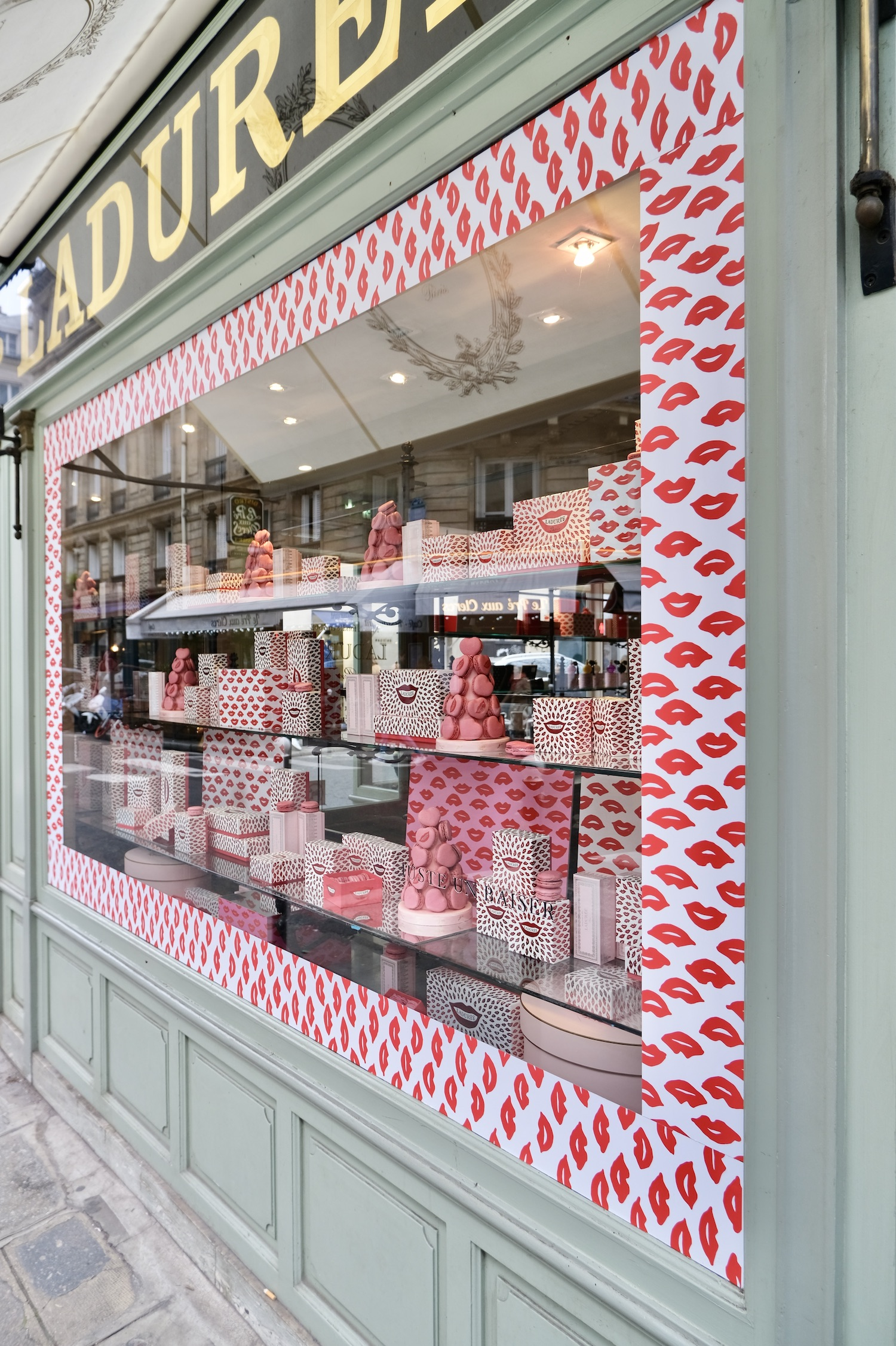 Ladurée Valentine's Day windows Five Friday Finds from France