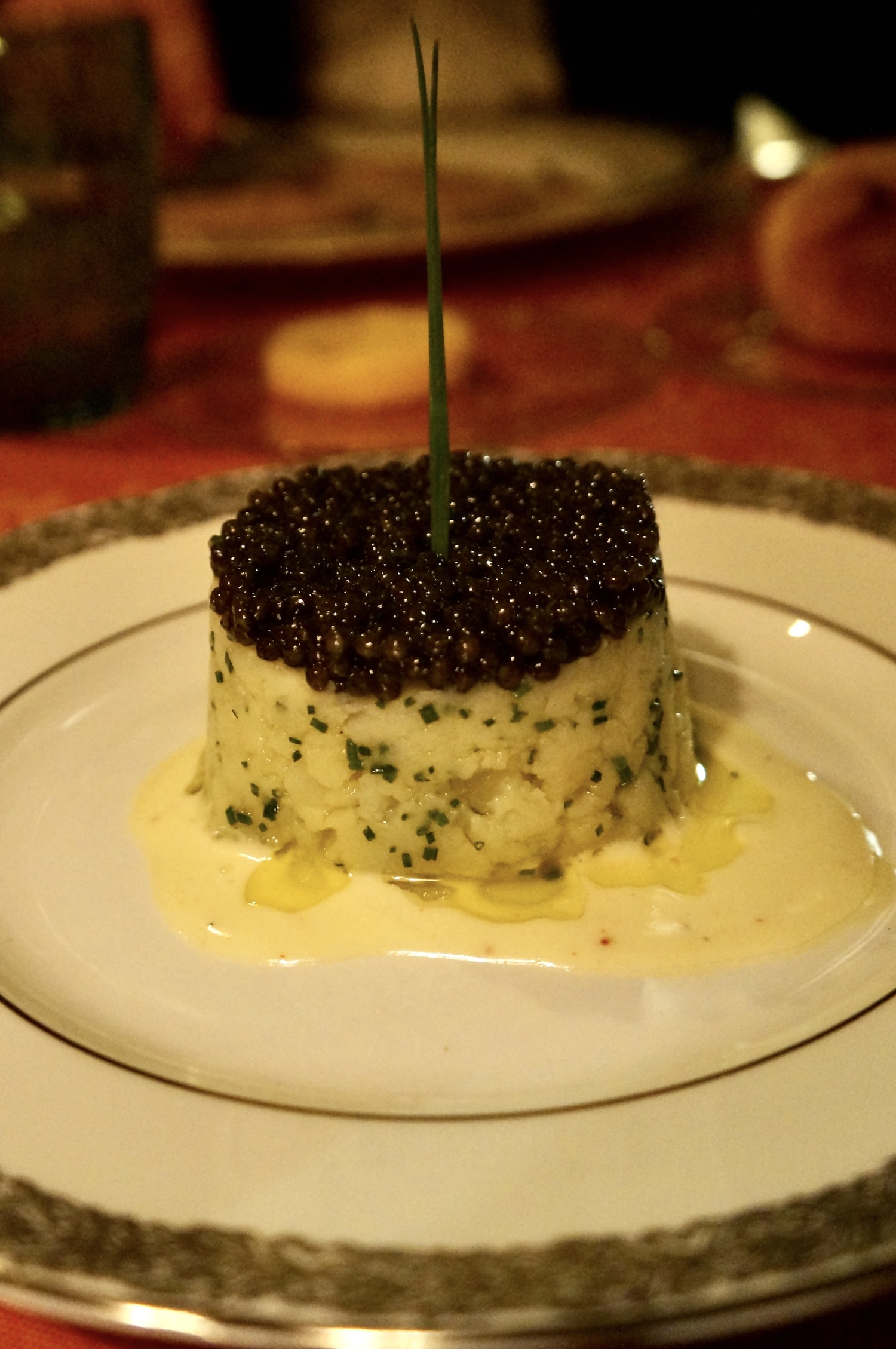 Potato Charlotte with Caviar at the newly renovated Lapérouse in Paris