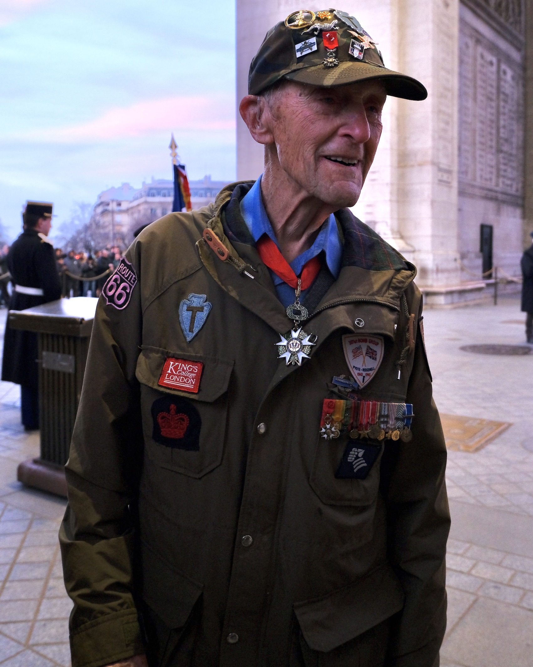 WWII Veteran Dr. Stephen Weiss in Paris on his final trip to France
