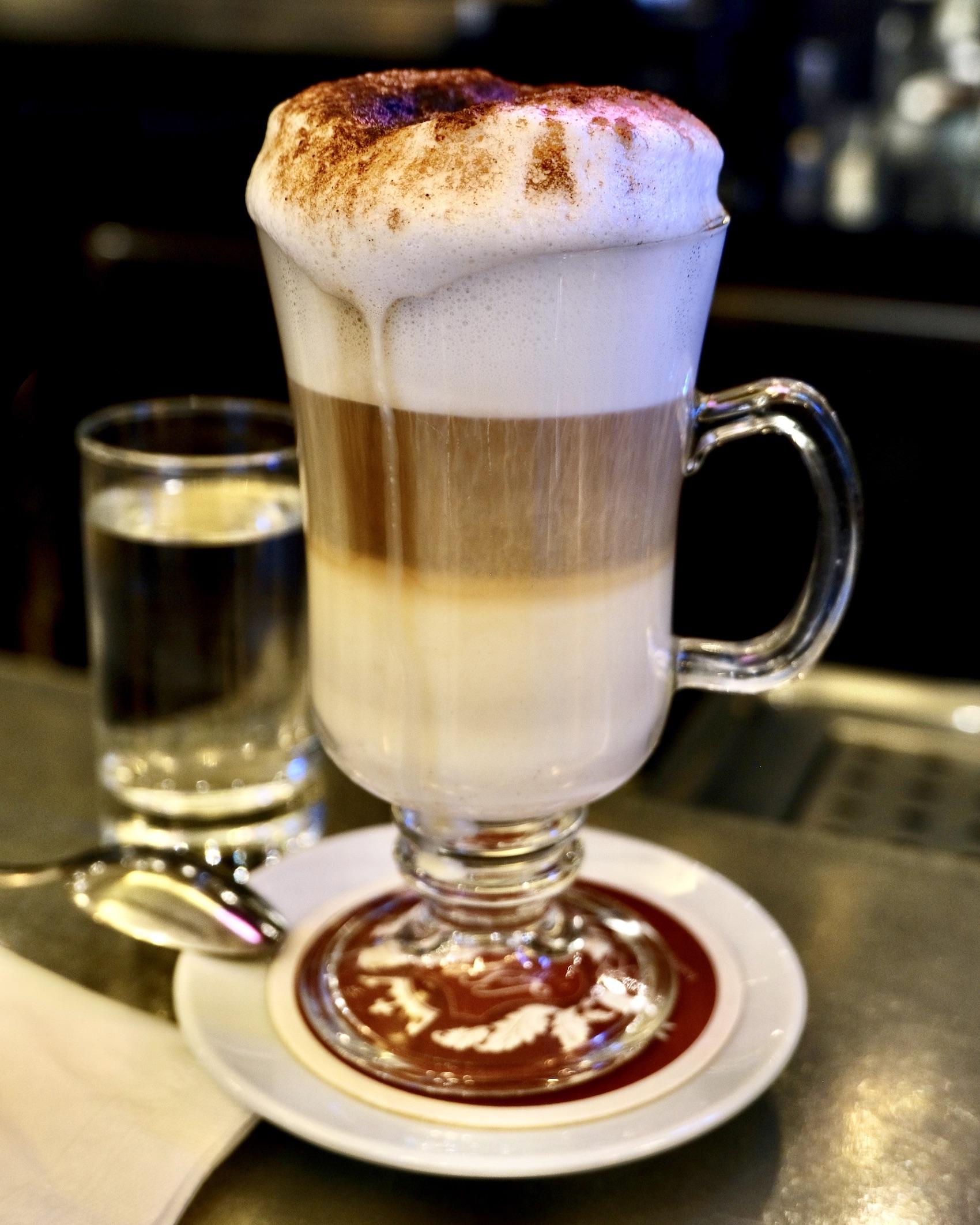 Cappuccino at Le Saint Germain