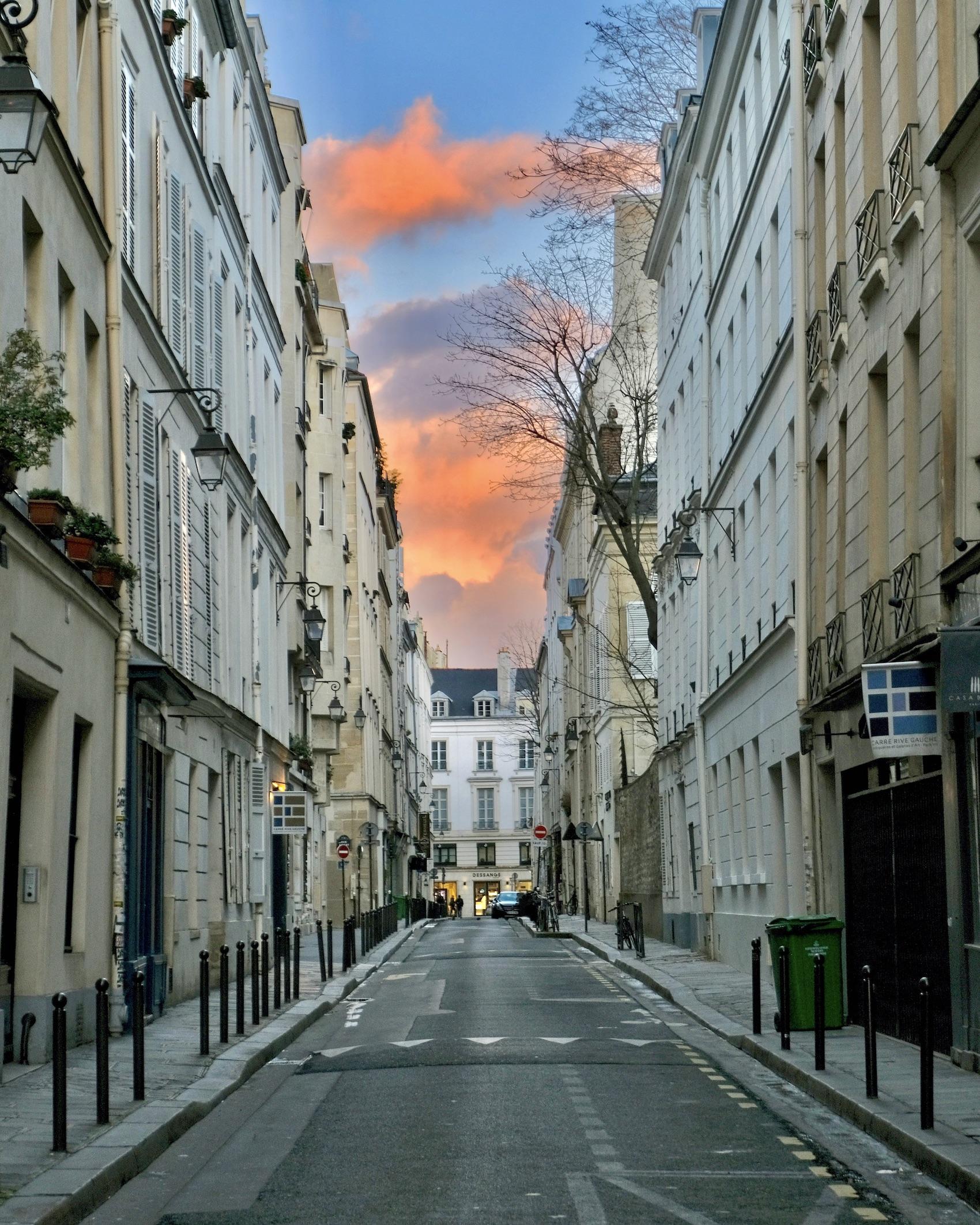 Sunset from Rue de Verneuil
