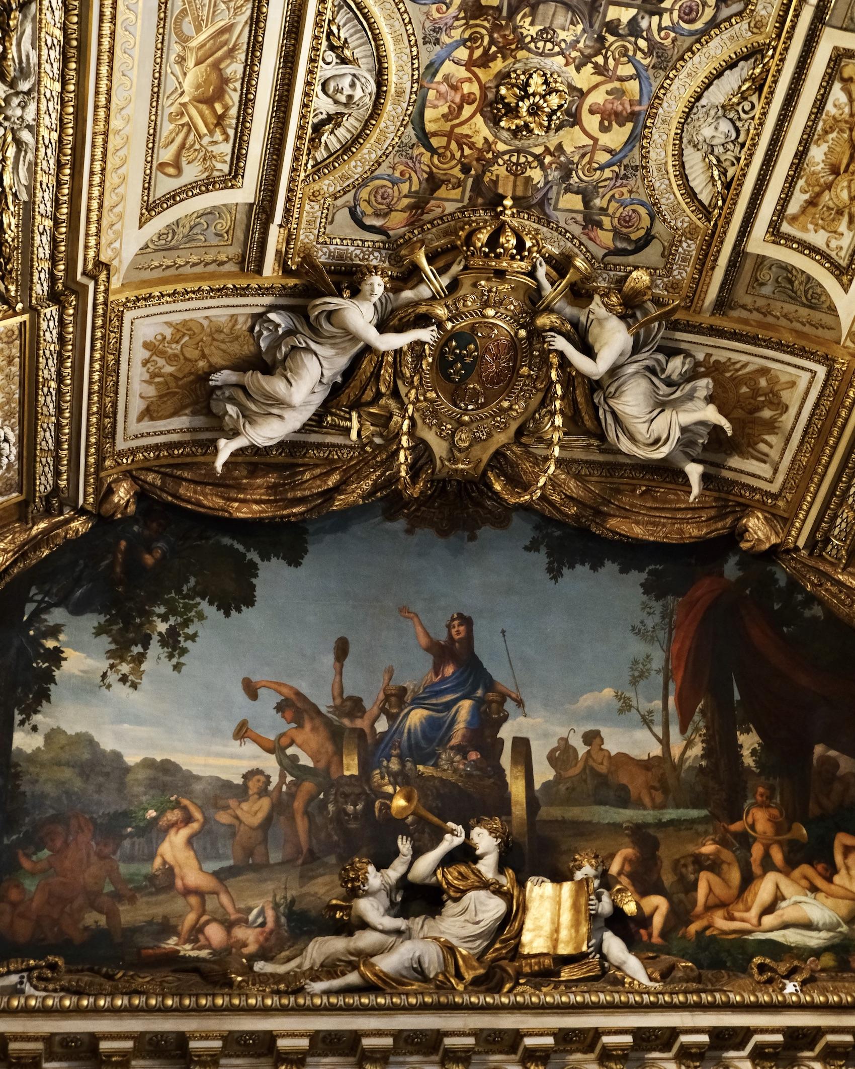 Galerie d'Apollon ceiling detail