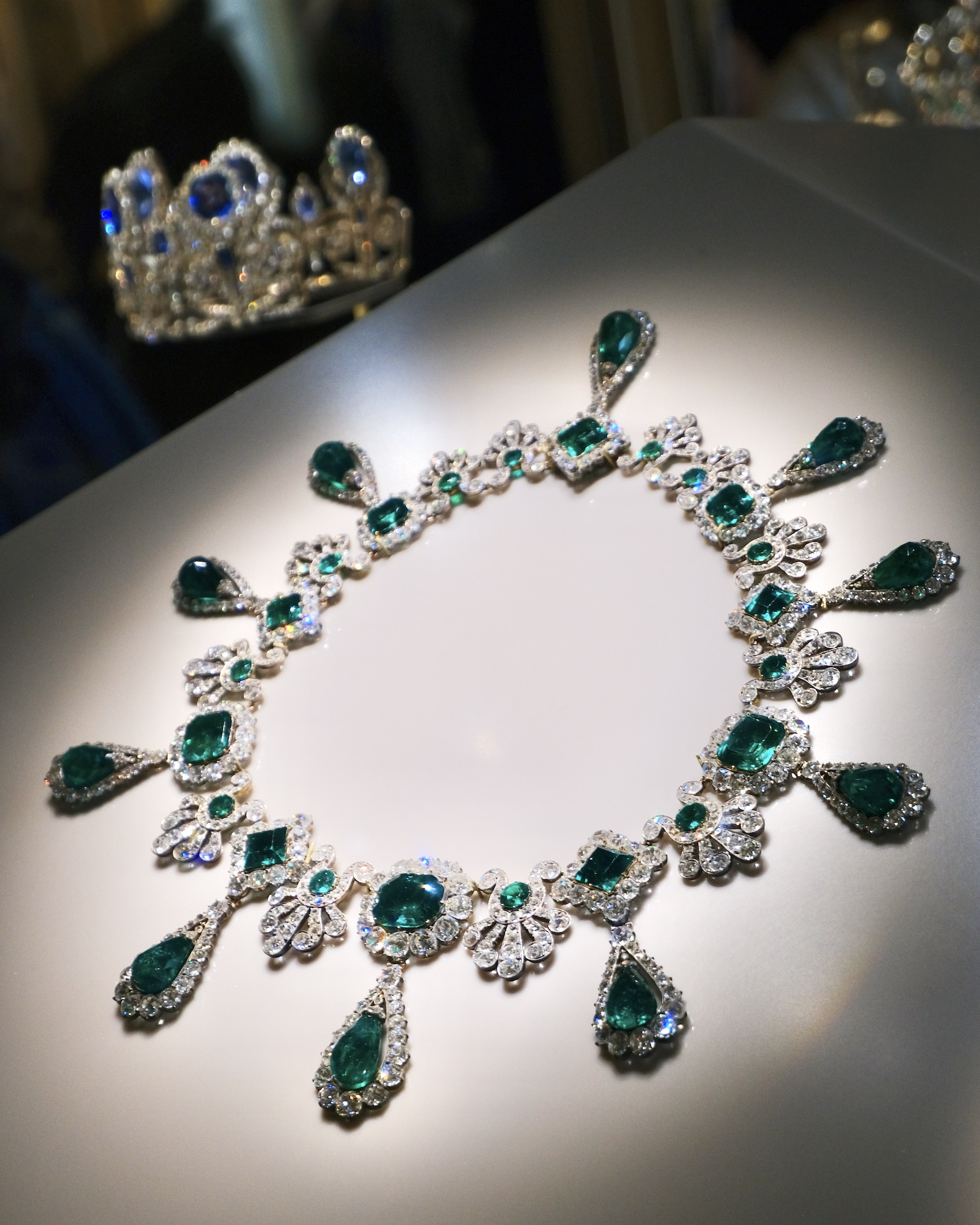 Emerald and Diamond Necklace French Crown Jewels