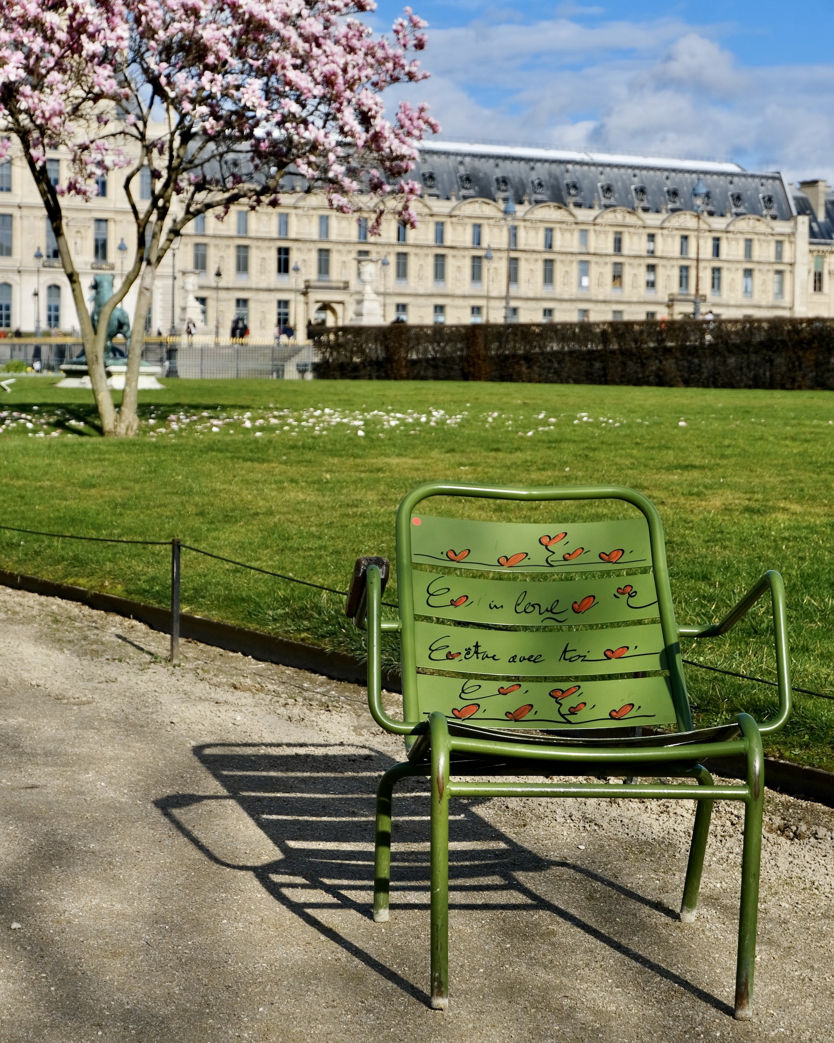 Love Green Chair at the Tuileries