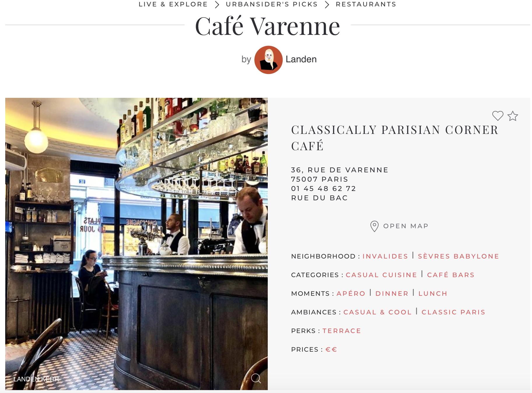 Urbansider Café Varenne Review