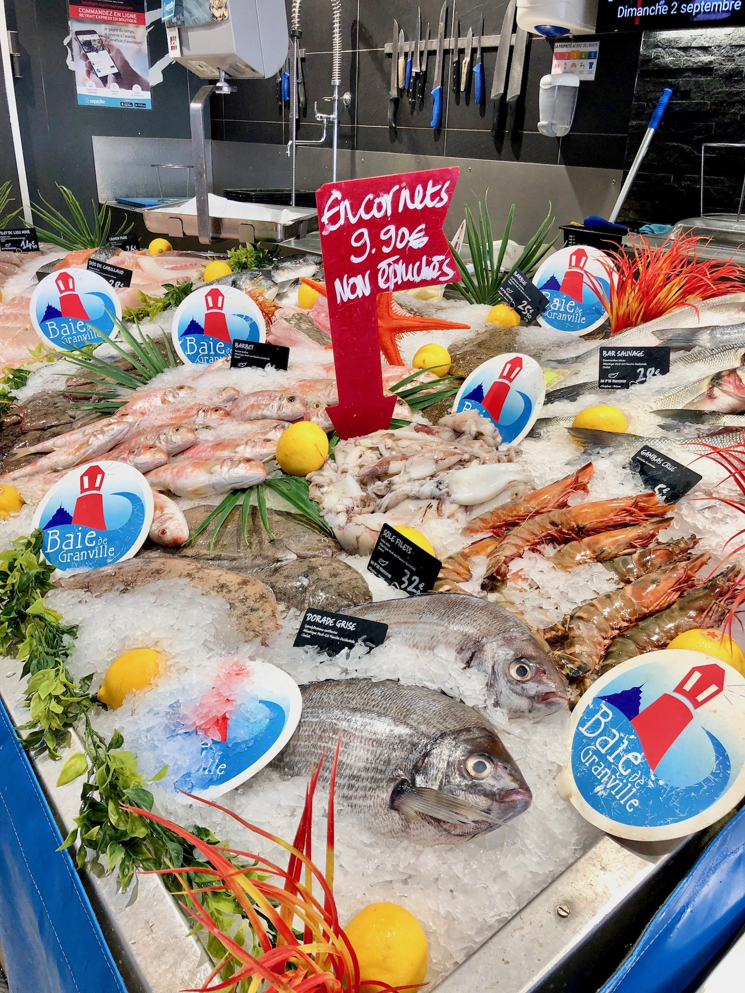 Seafood in Granville at Au P'tit Mareyeur in Normandy
