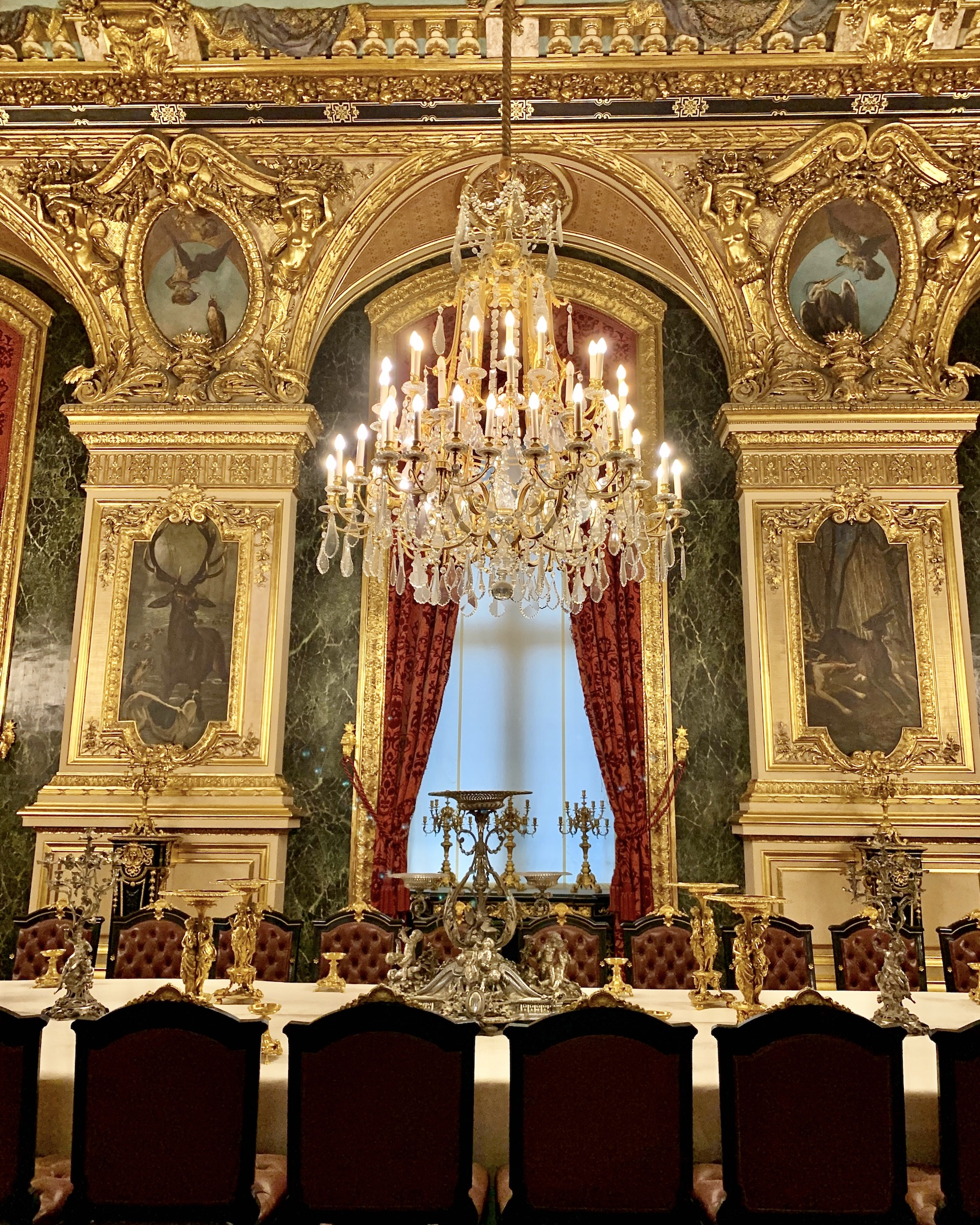 State Dining Room at the Louvre