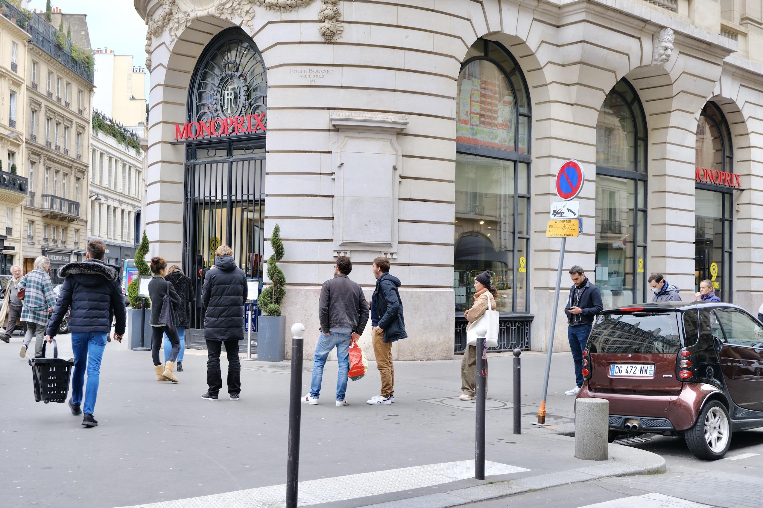 Paris COVID-19 lockdown Monoprix Lines