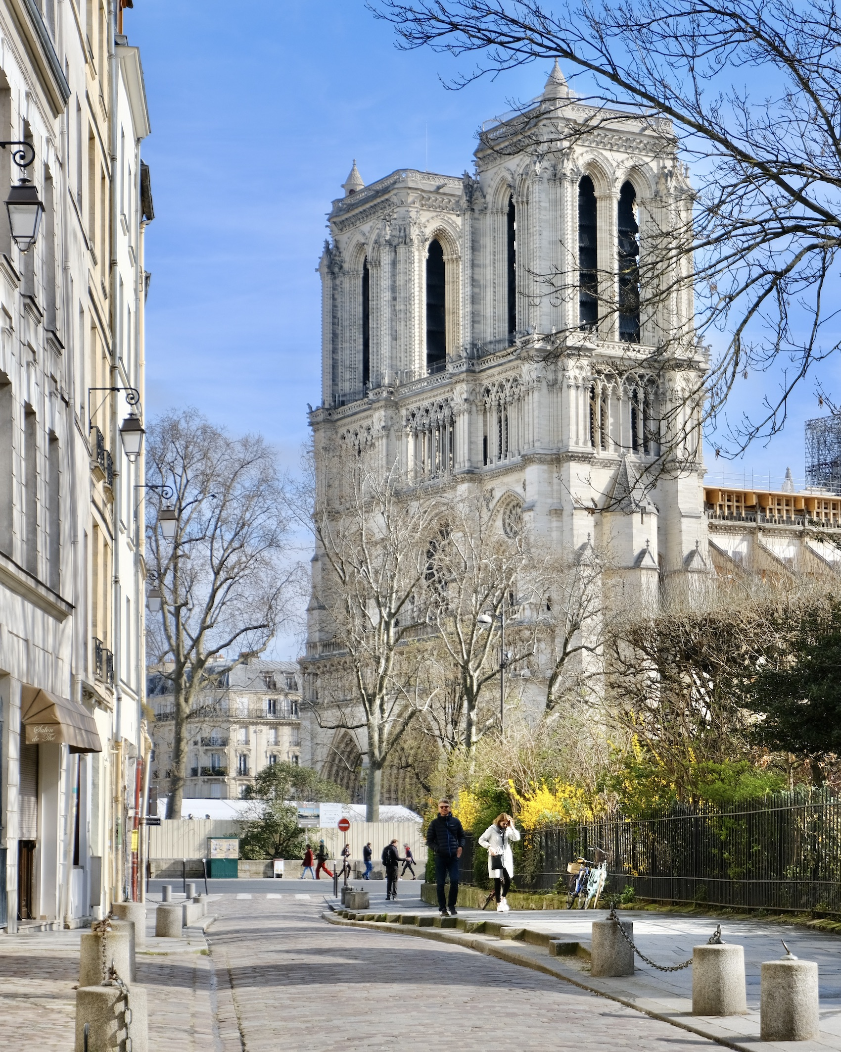 COVID-19 Lockdown in Paris Notre Dame