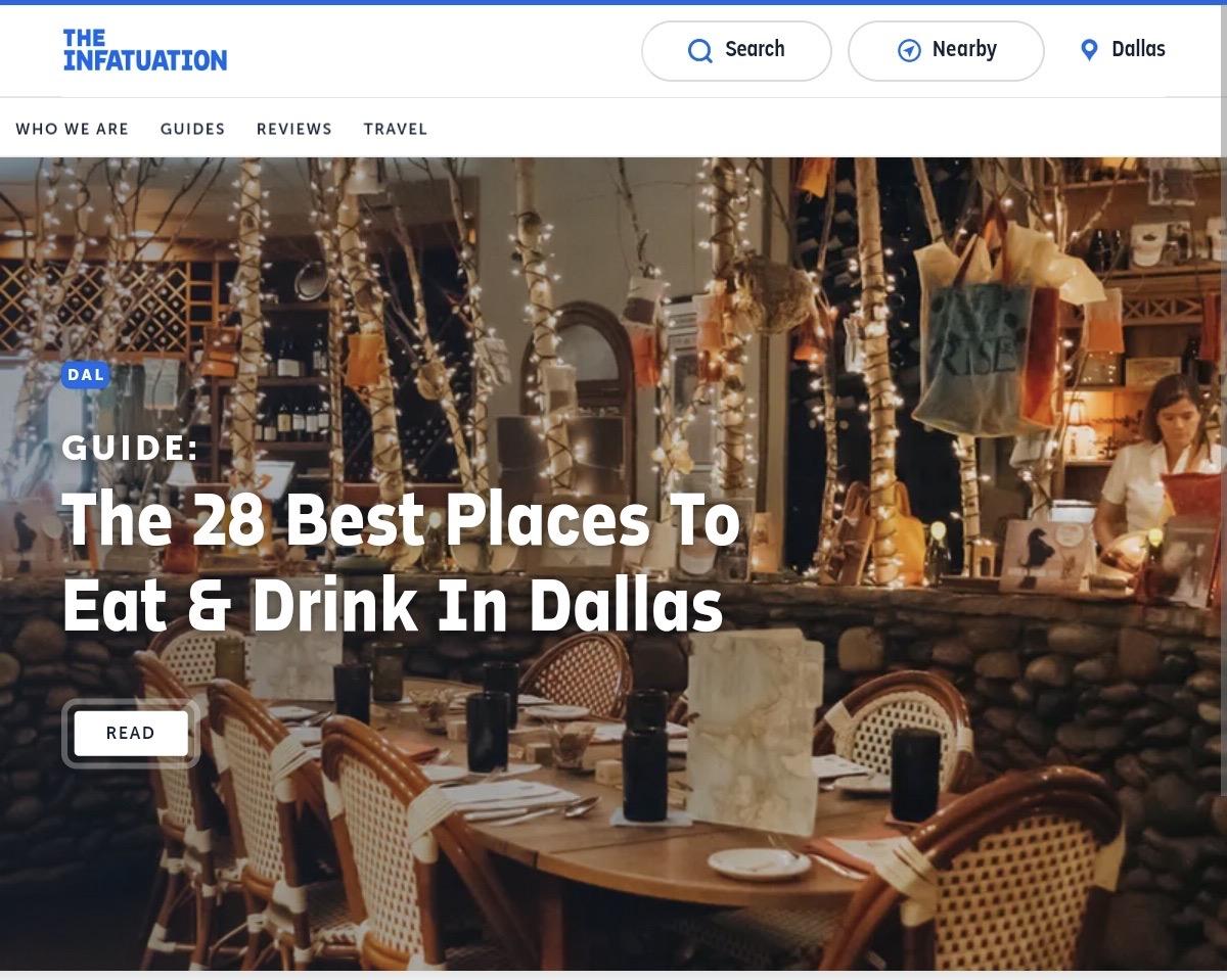 The Infatuation Dallas City Guide