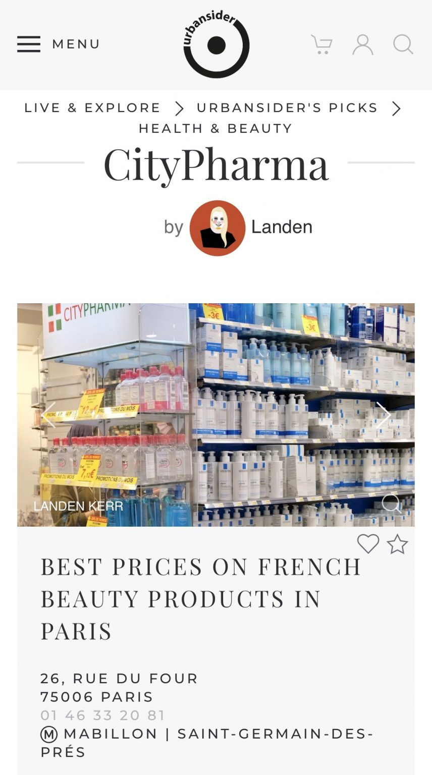 Urbansider CityPharma Review