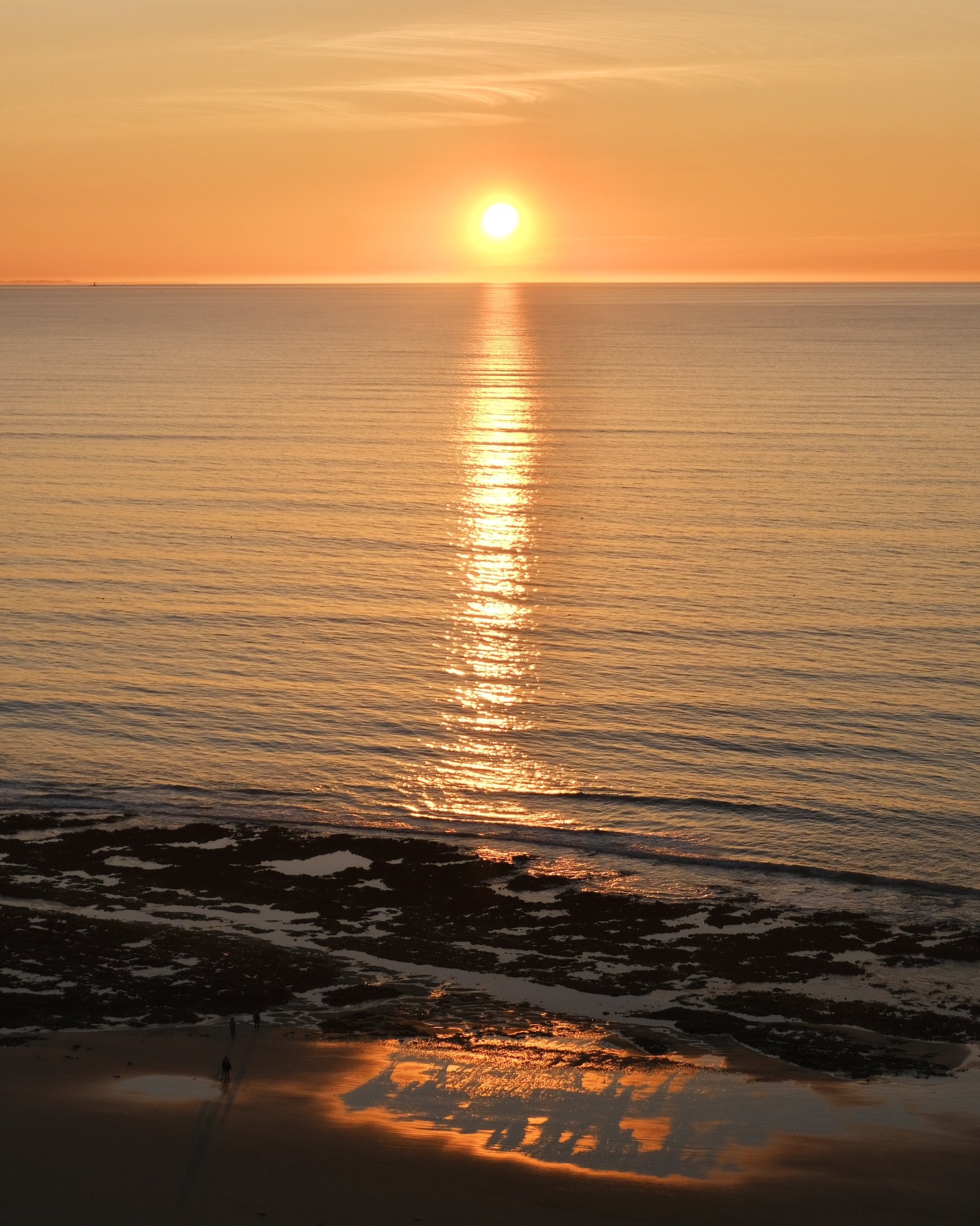 Sunset over the Normandy Beaches