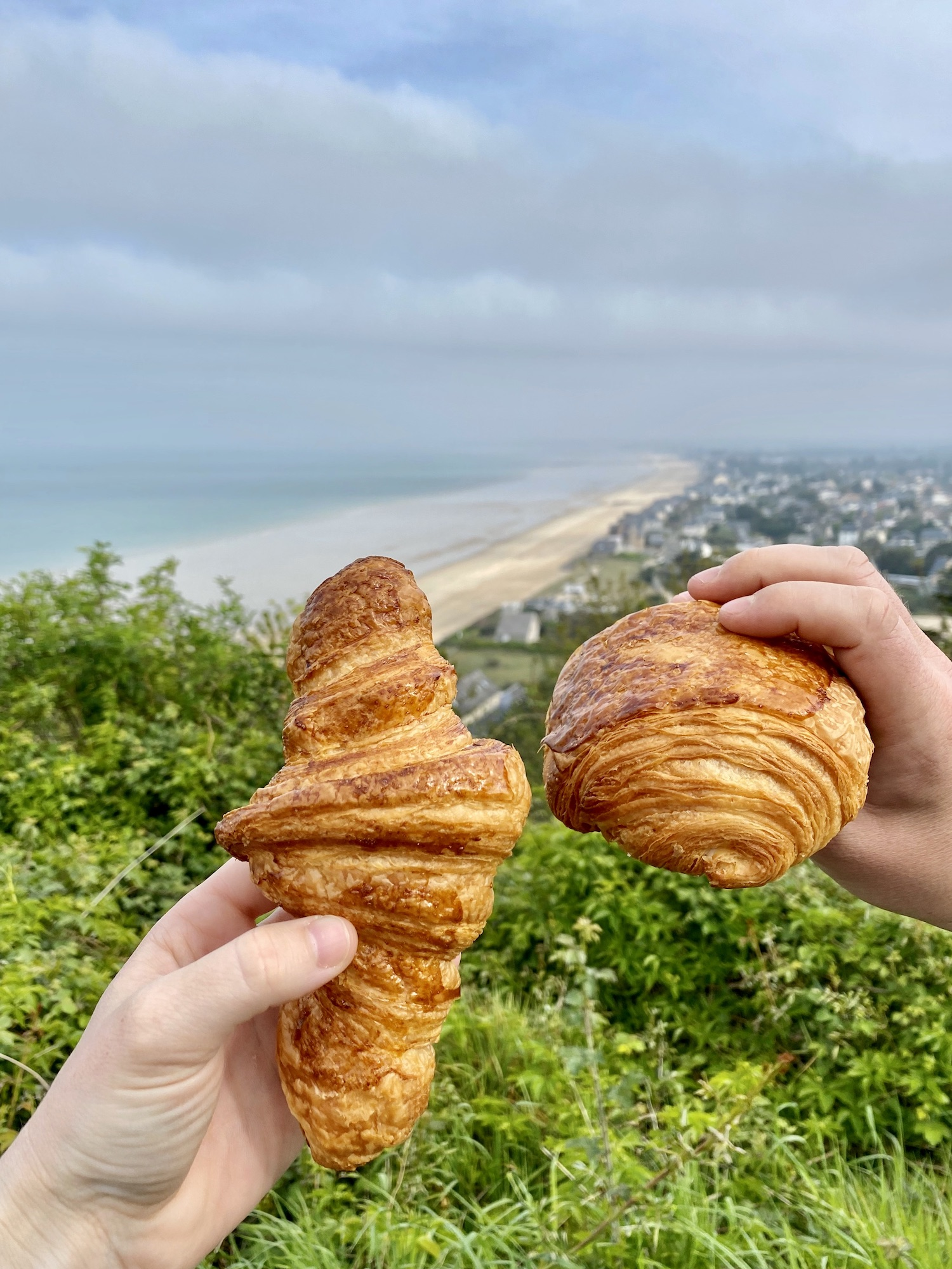 Wearing sweatpants in France for a Sunday croissant