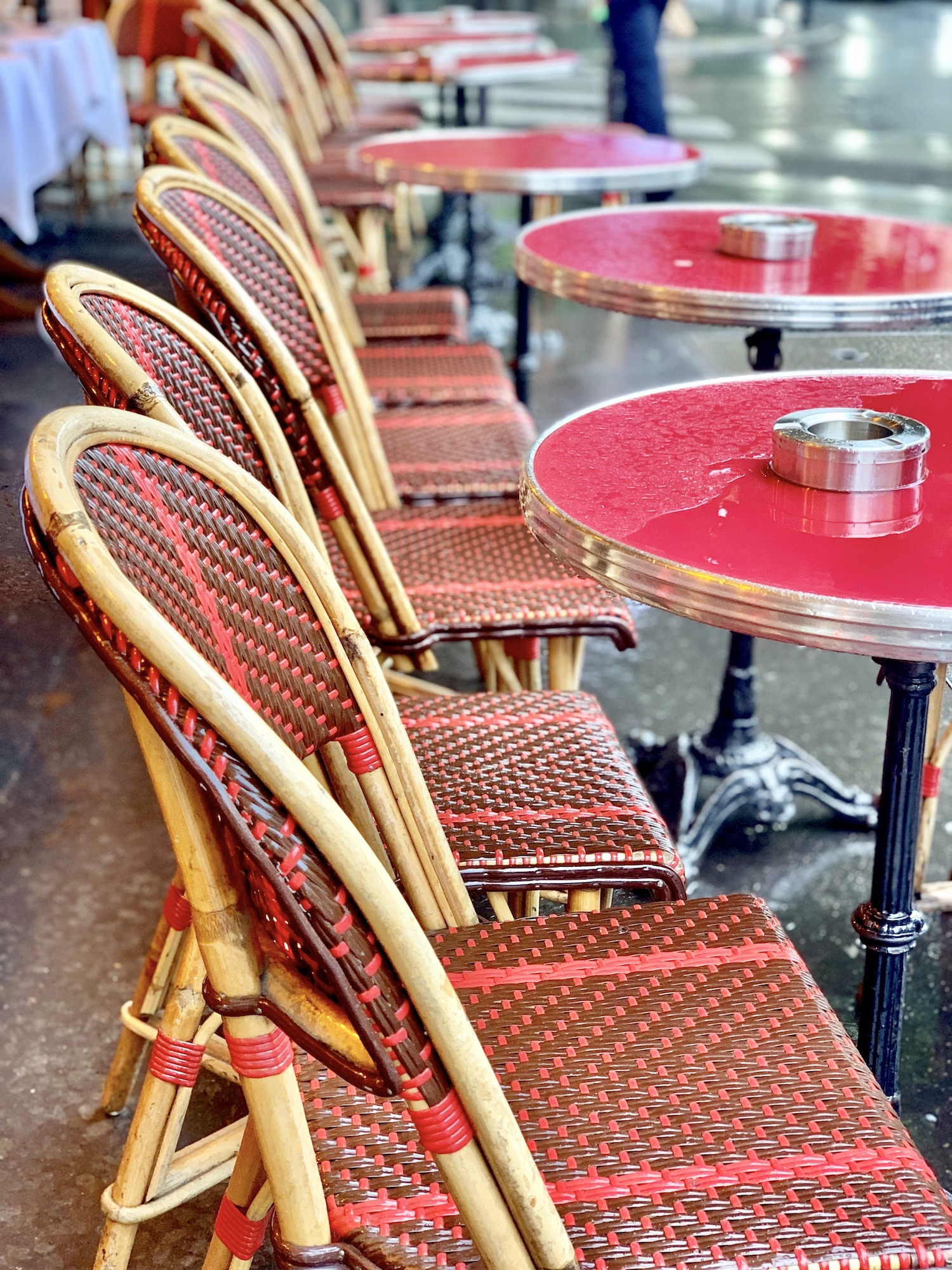 Red Paris Café Chairs