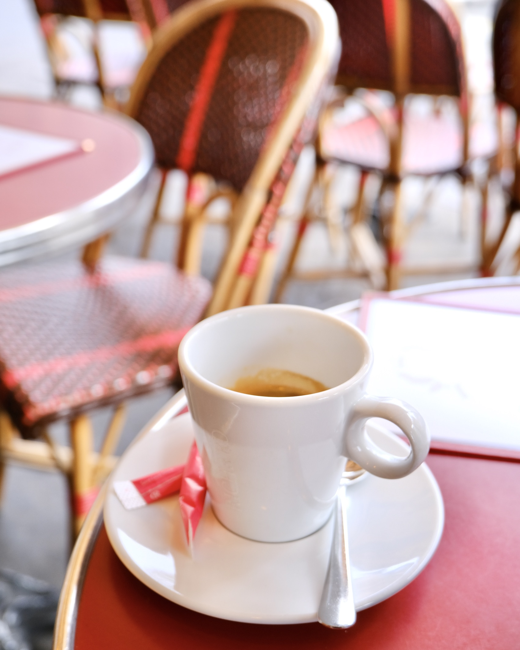 Paris café double espresso