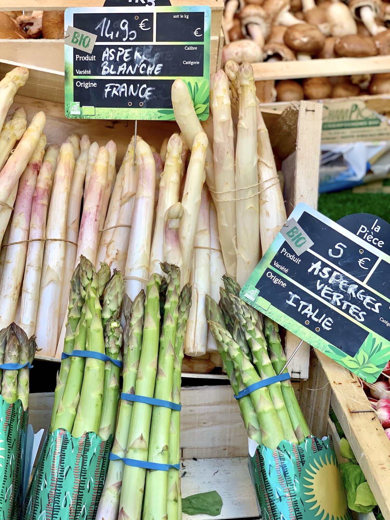 Best Paris Market organic asparagus