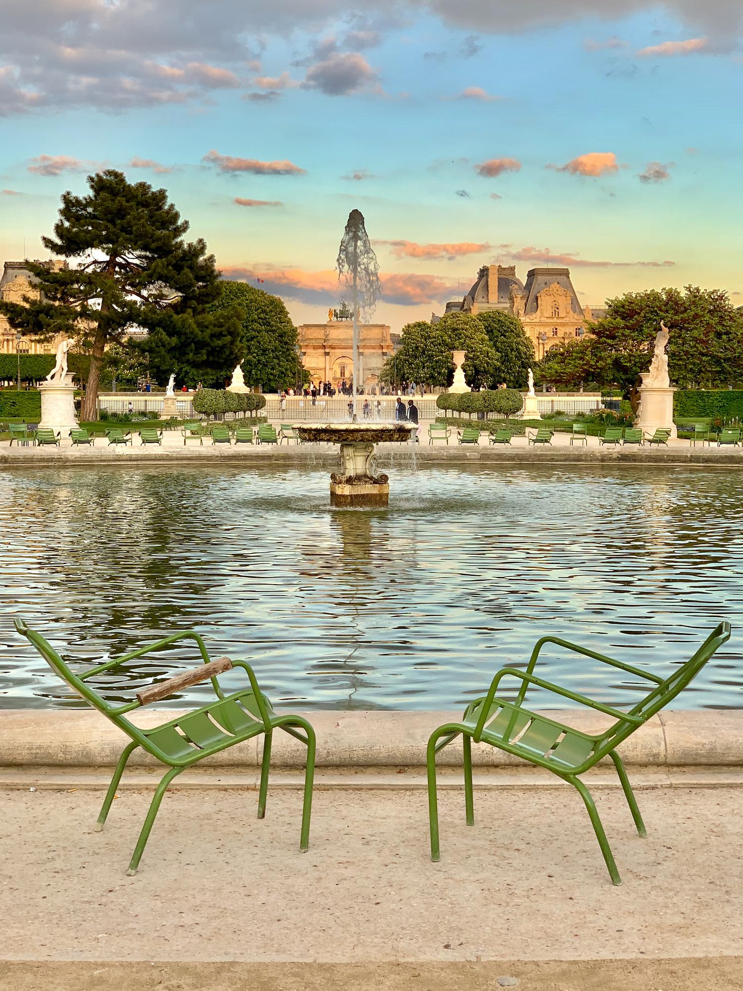 Tuileries Garden just before close