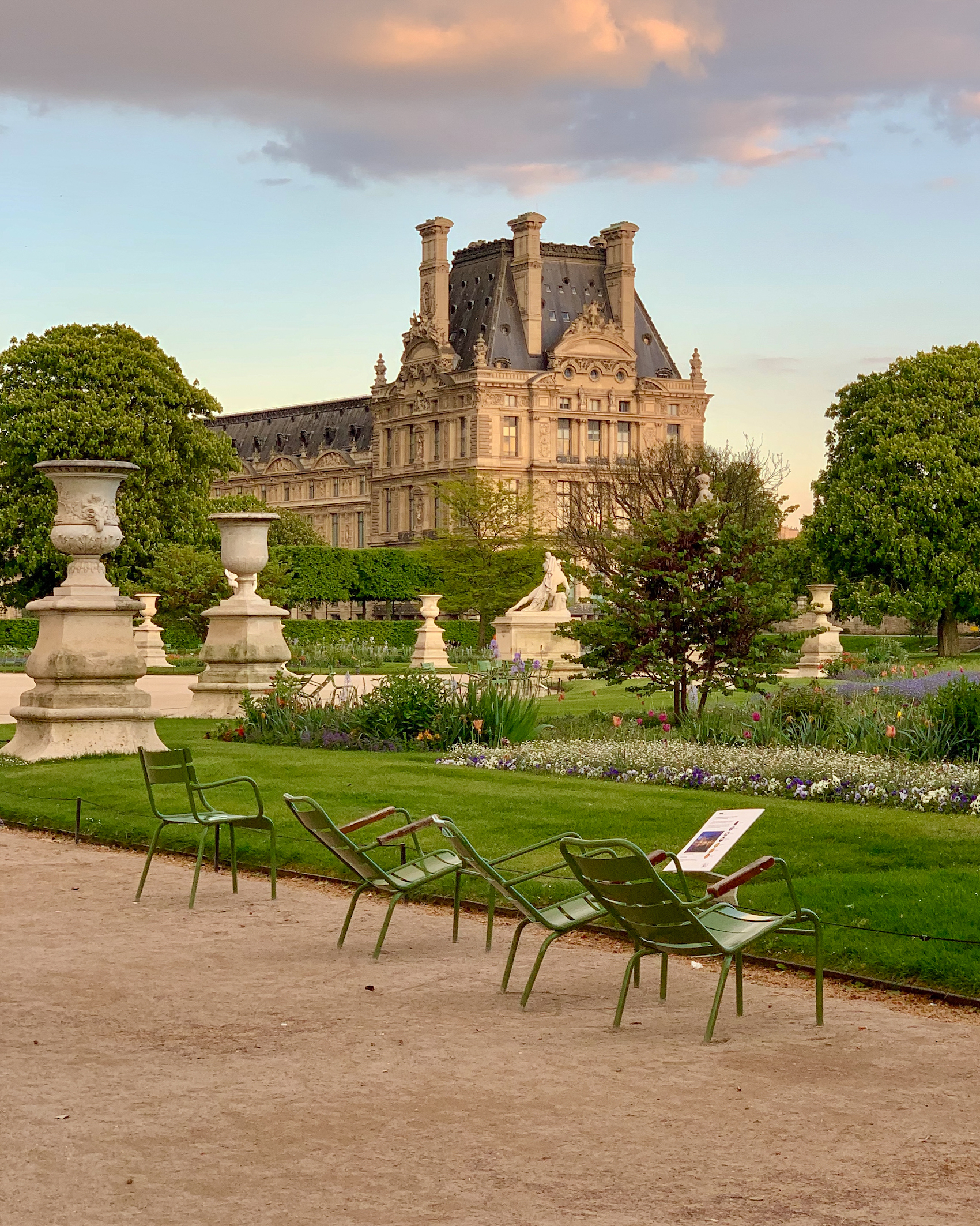 Moment of spring peace in the Tuileries Garden