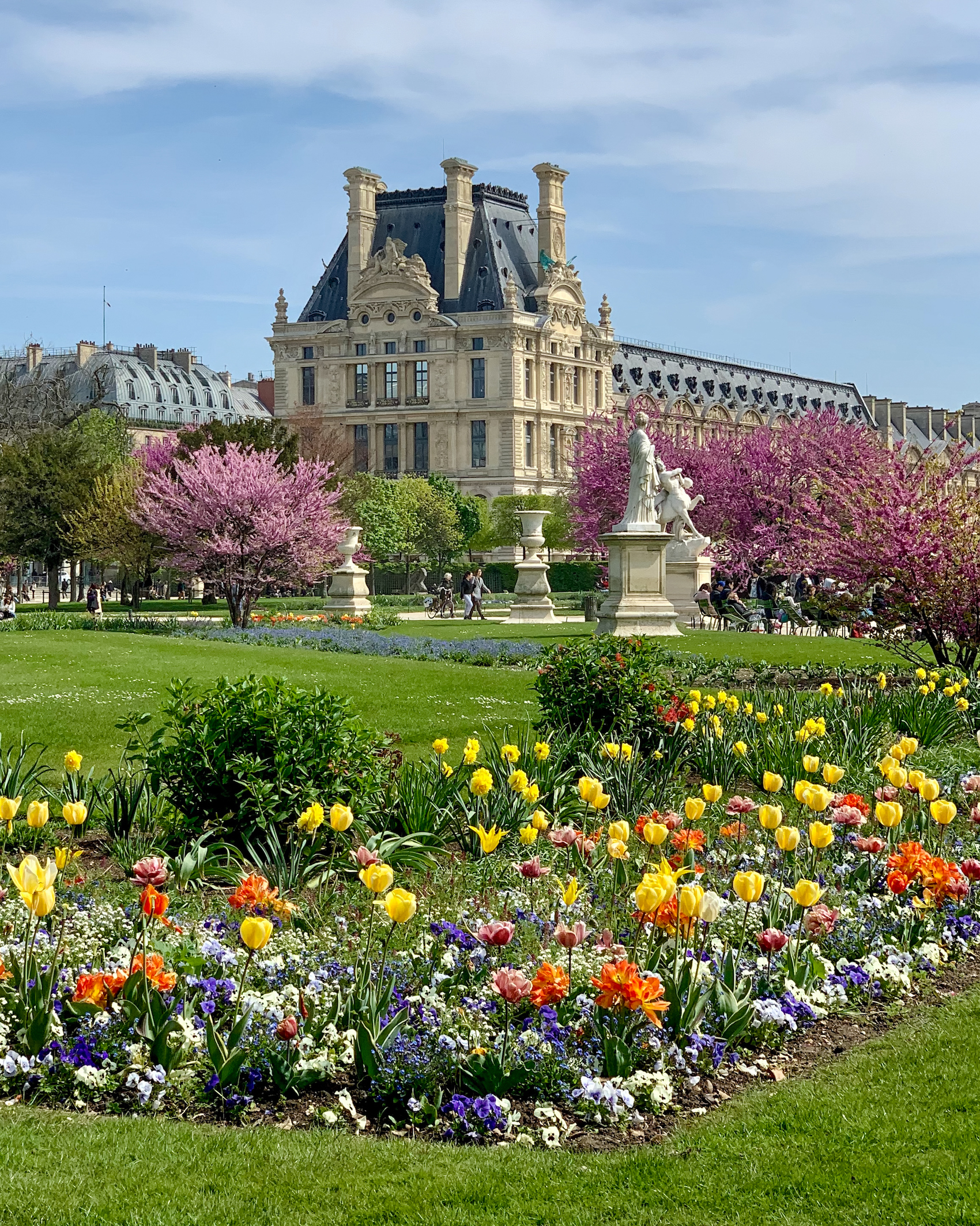 A Walk through the Tuileries in Spring