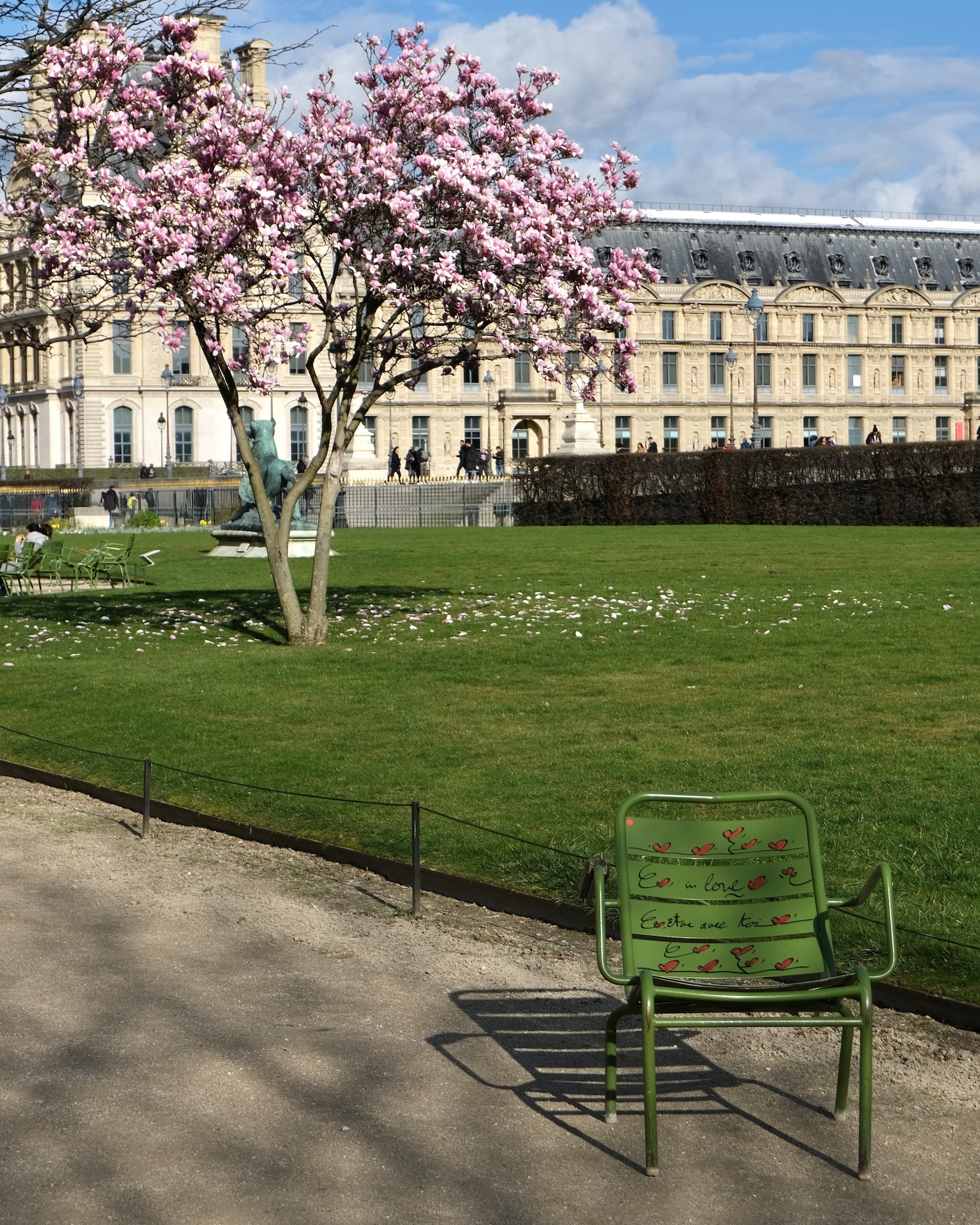 Magnolia with green Paris chair