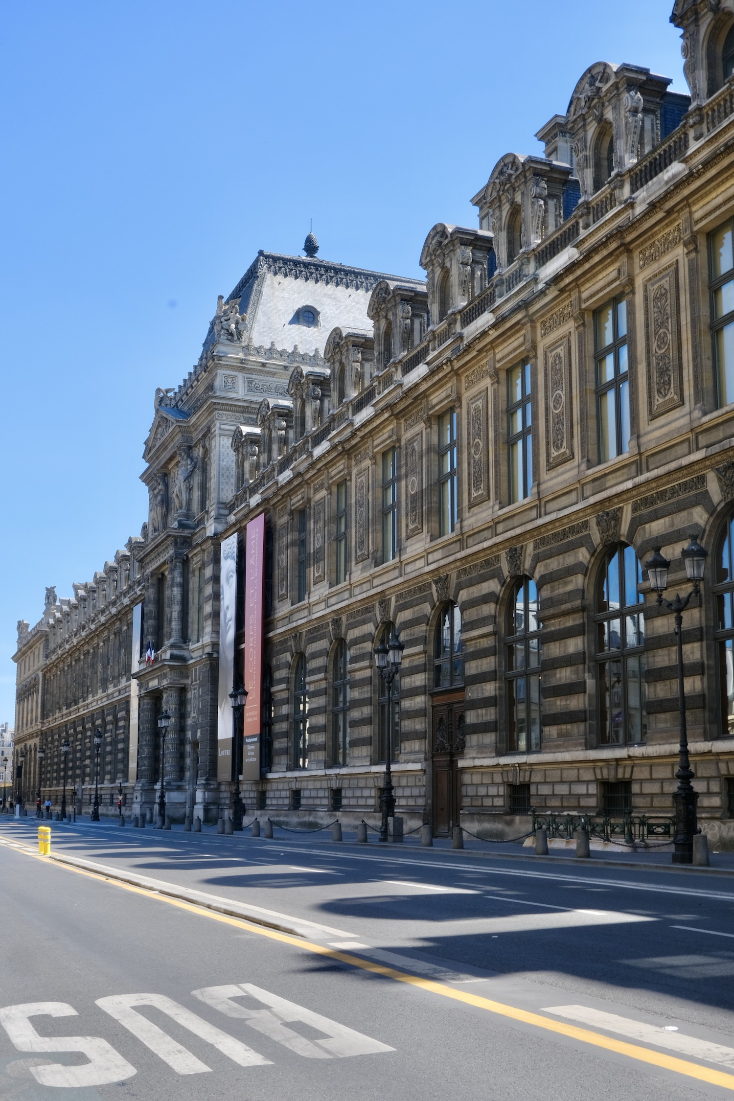 Rue de Rivoli without cars