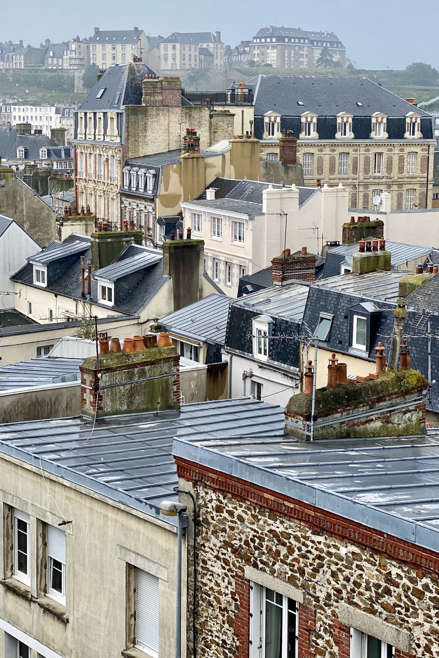 Rooftops in Granville, Normandy