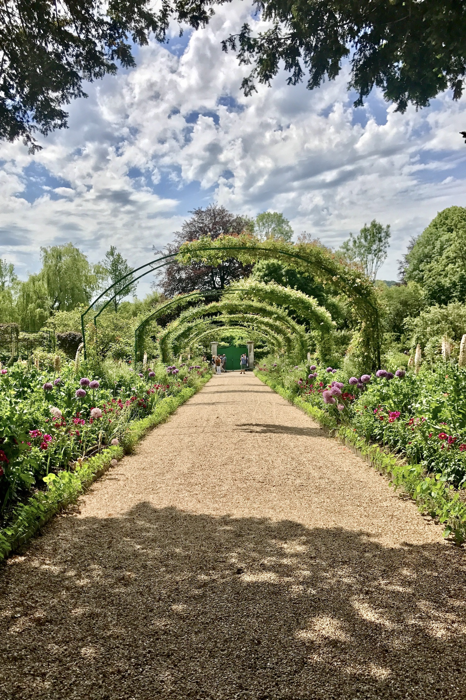 Arch at the Monet house and garden in Giverny
