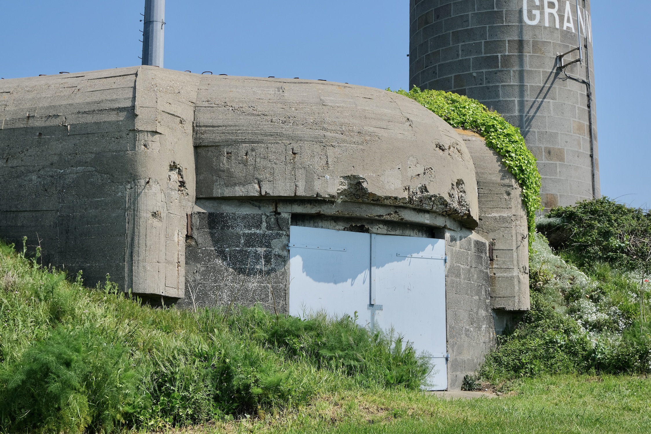 German fortifications at Pointe du Roc in Granville for VE Day in France