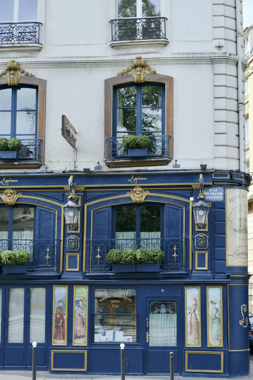 Lapérouse facade. This week's Five Friday Finds from France includes: phase two of reopening in France and how to get a perfect French bistro steak sear at home