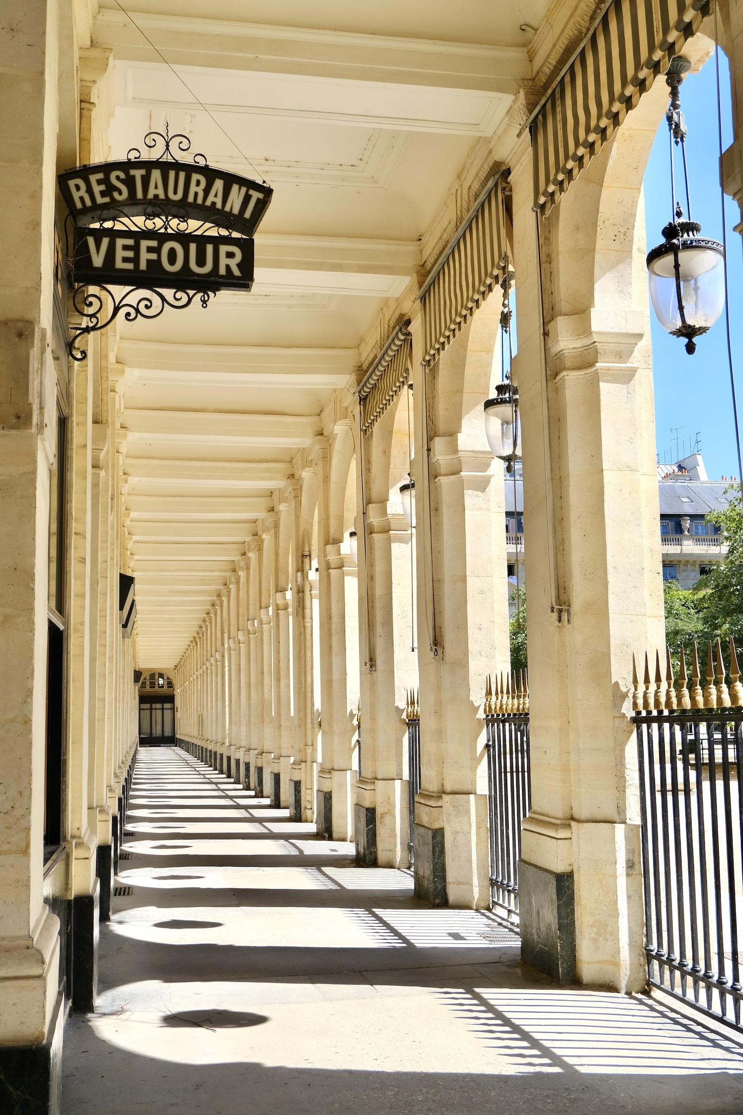 Restaurant Vefour Sign Palais-Royal