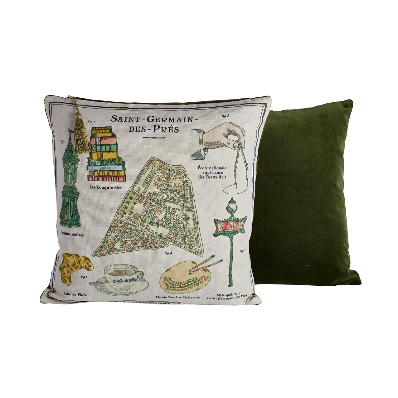 Marin Montagut Saint-Germain-des-Prés pillow