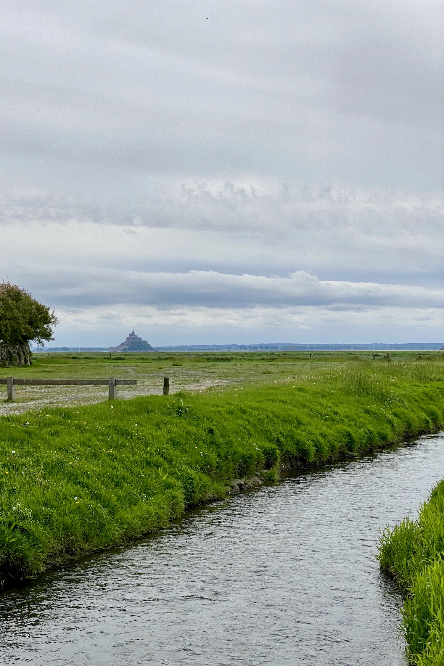 View of Mont Saint-Michel from Genêts in Normandy