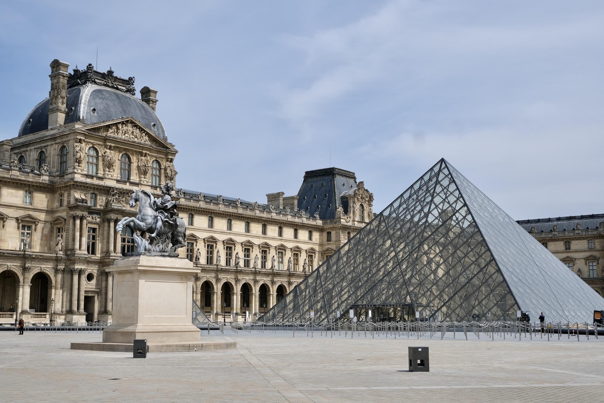 The Louvre empty post-confinement in Paris
