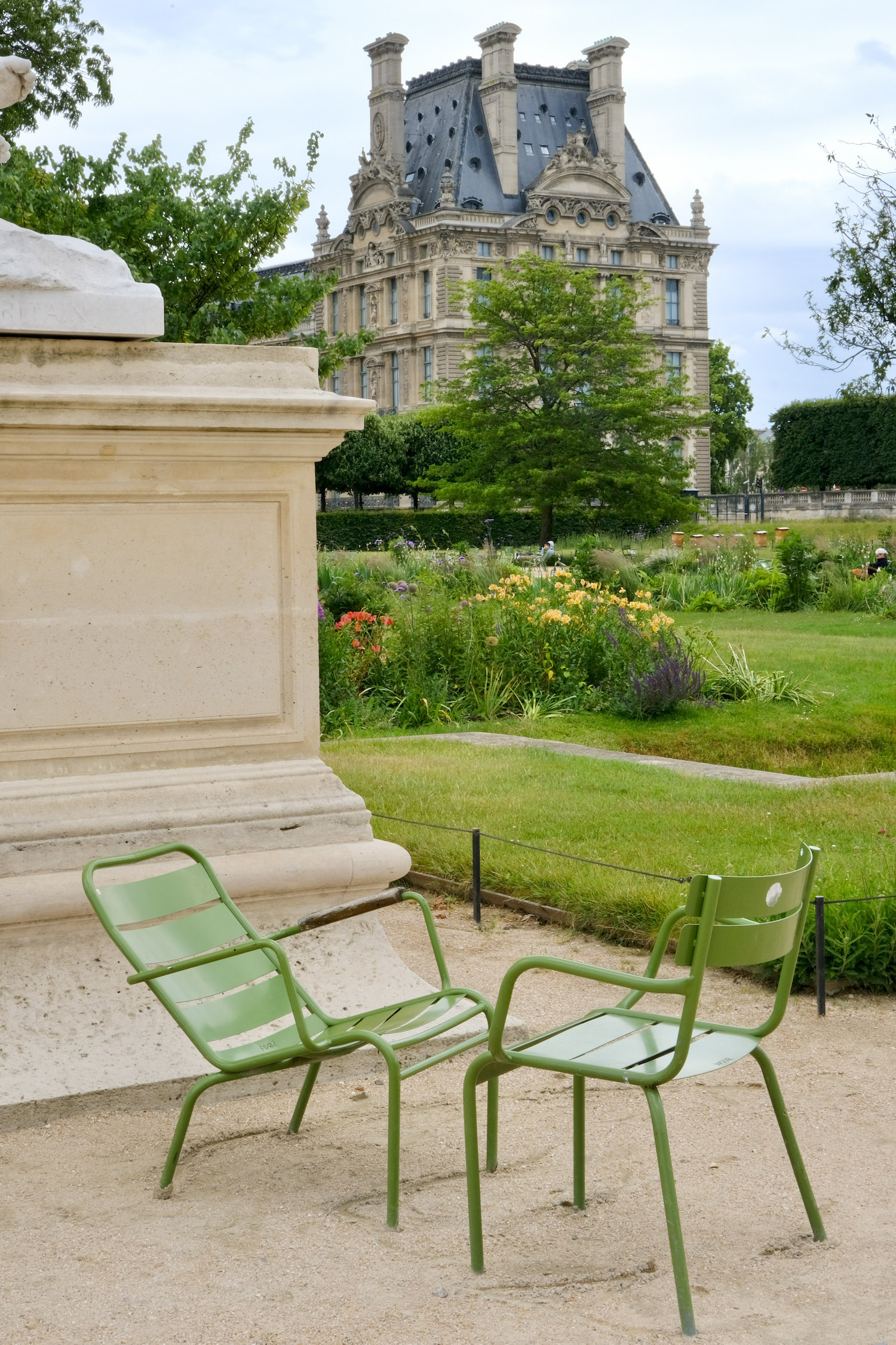 Green chairs in the Jardin des Tuileries