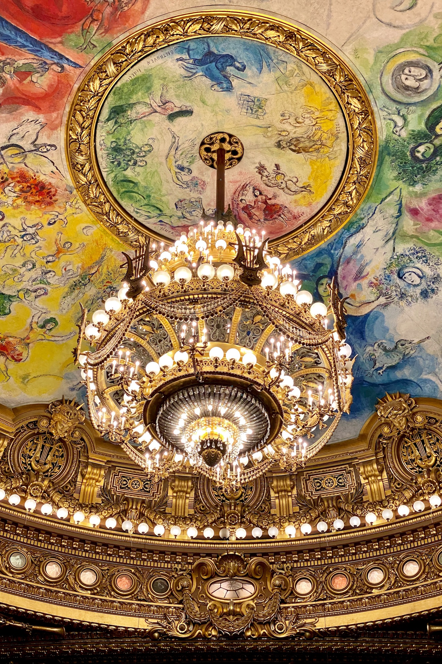 A Walk through Palais Garnier Marc Chagall Ceiling