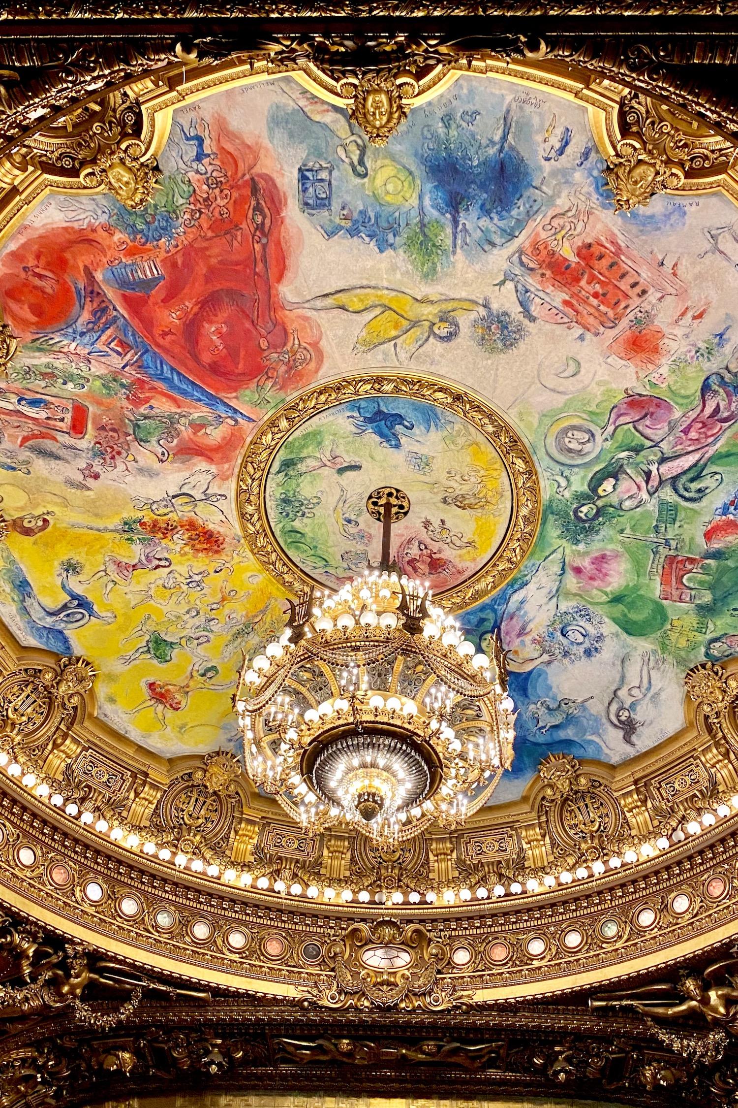 A Walk Through Palais Garnier Chagall ceiling