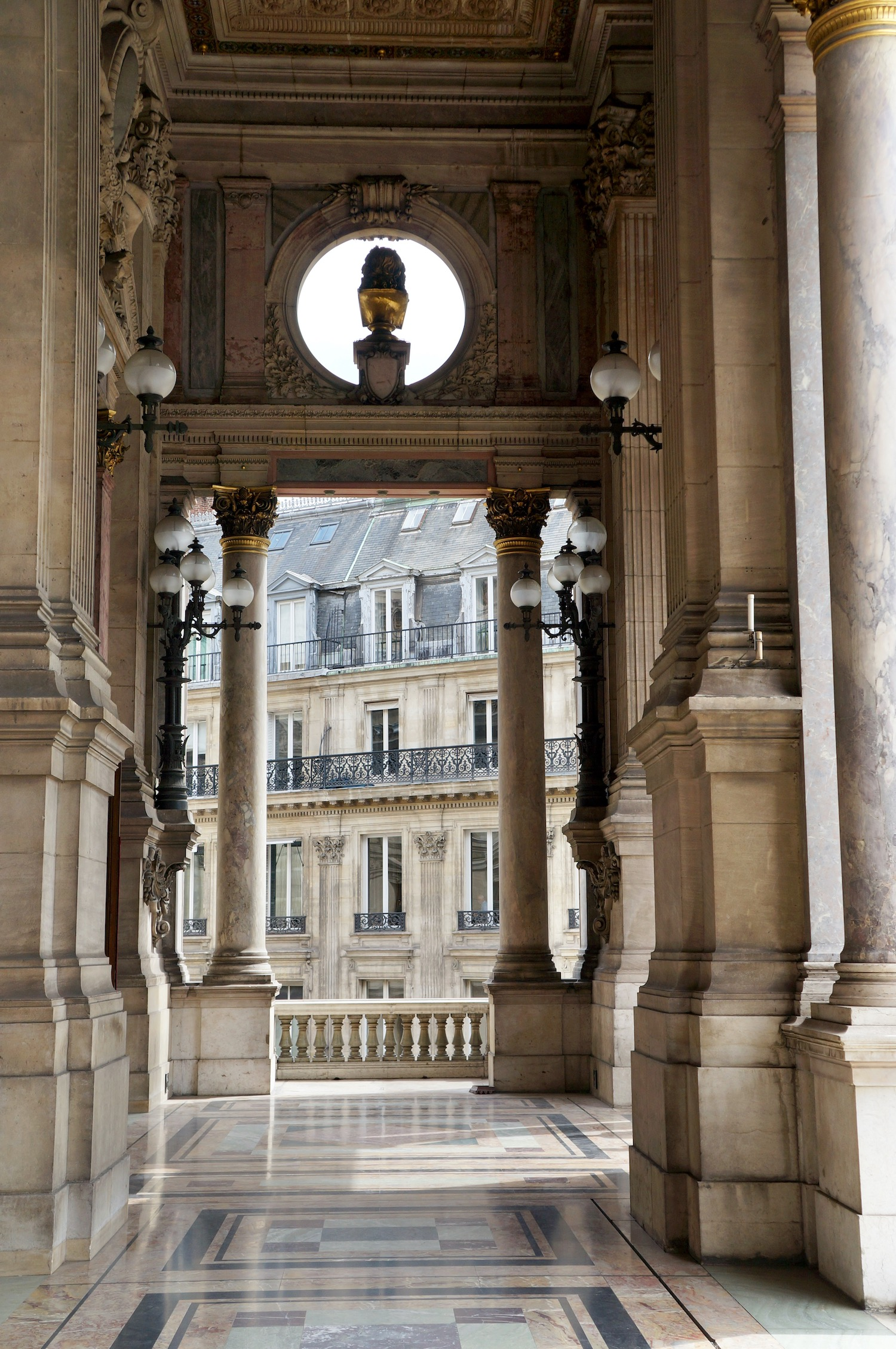 outdoor balcony overlooking Avenue de l'Opera