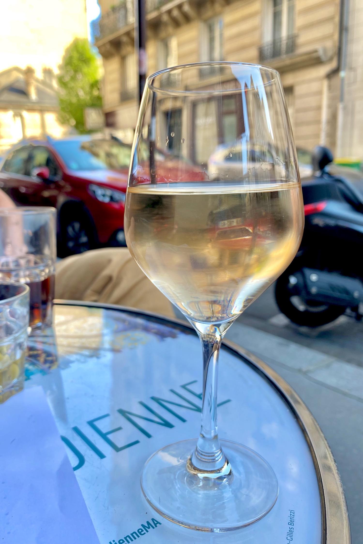 Gris rosé on a terrasse in Paris