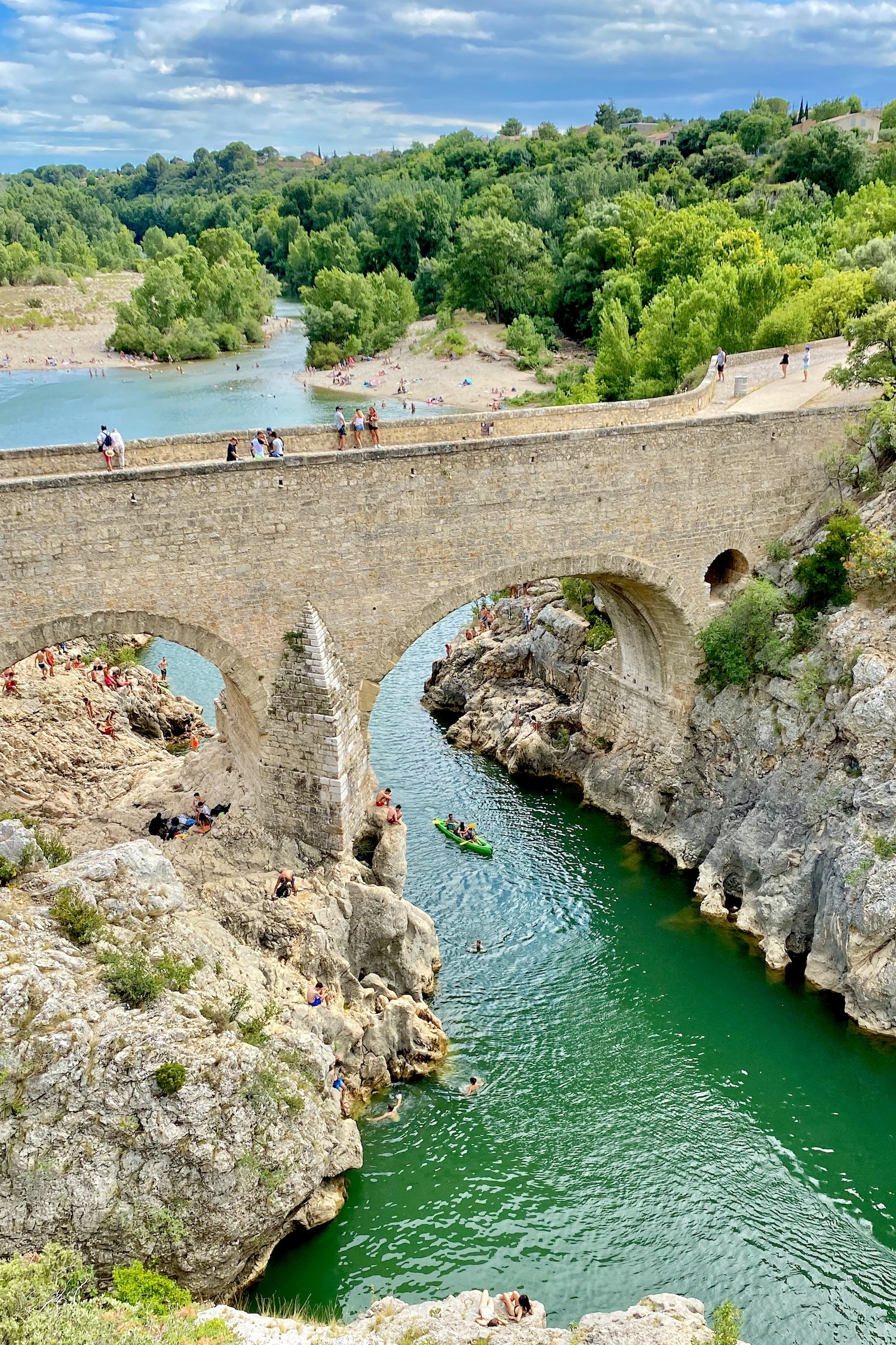 Pont du Diable at the base of Saint-Guilhem-le-Désert