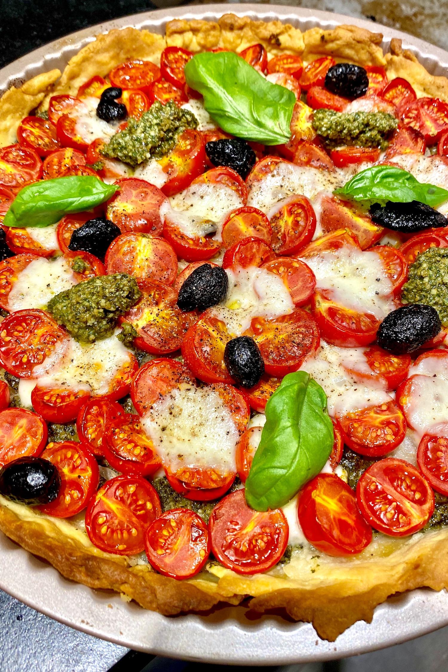 Tarte à la Tomate au Pistou