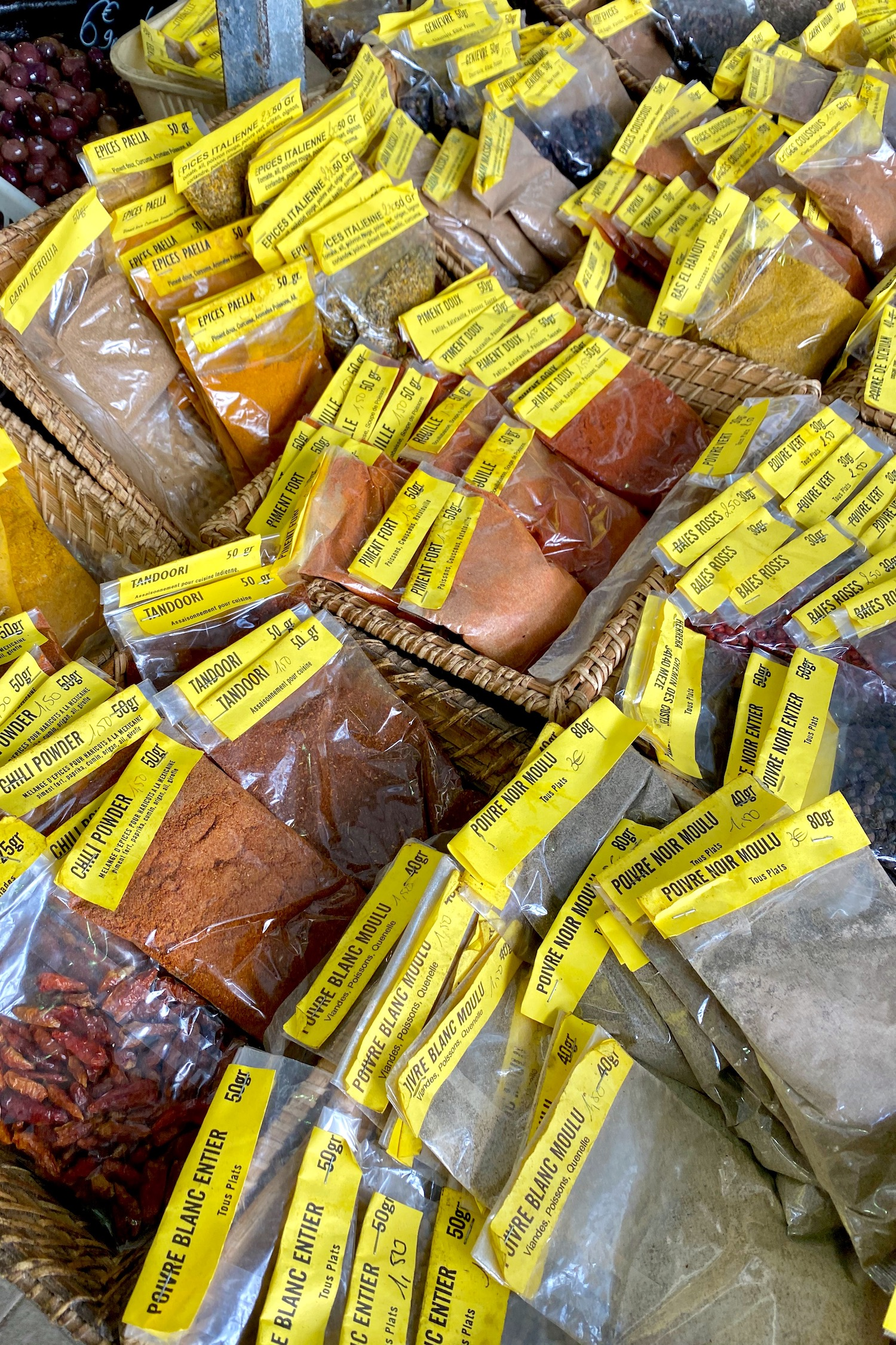 spices at the French market